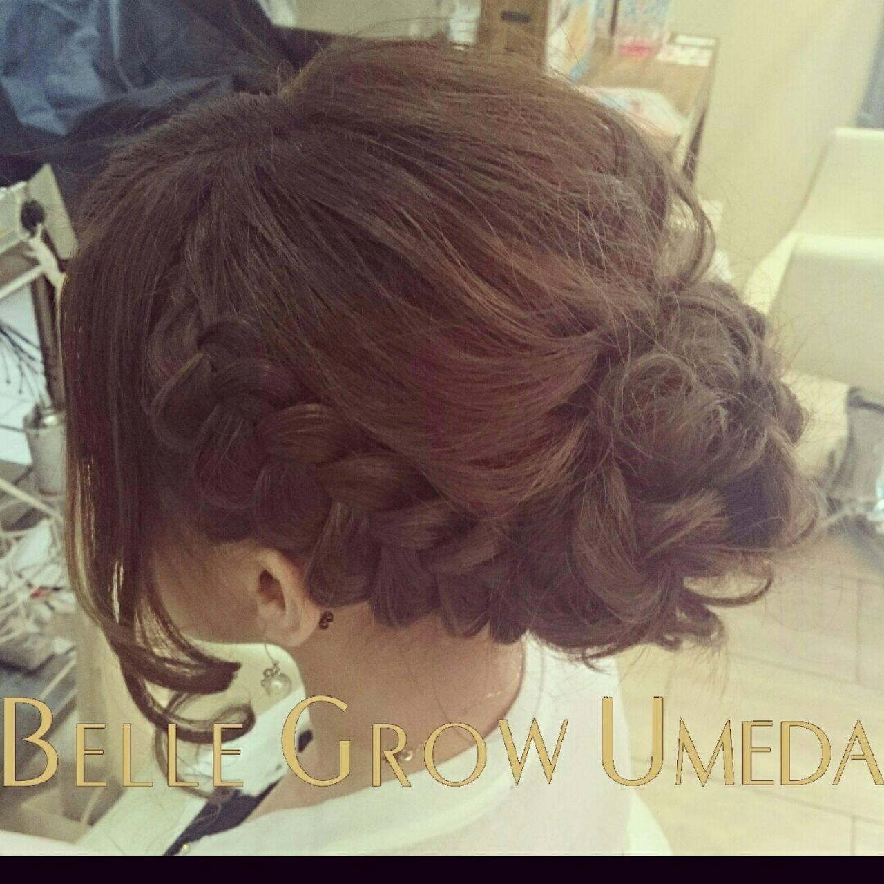 ナチュラル ヘアアレンジ 二次会 アップスタイルヘアスタイルや髪型の写真・画像
