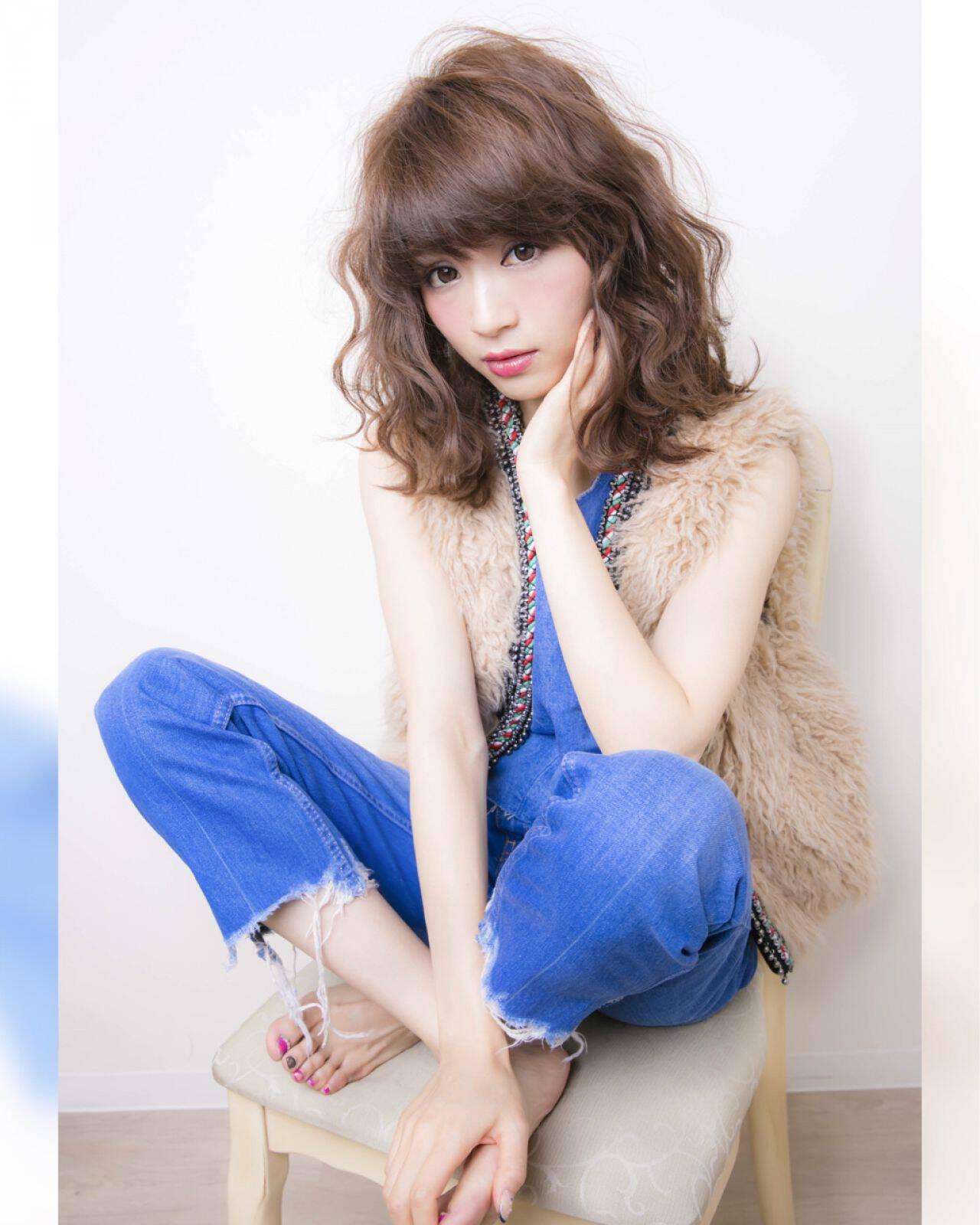 ヘアアレンジ フェミニン ゆるふわ ミディアムヘアスタイルや髪型の写真・画像