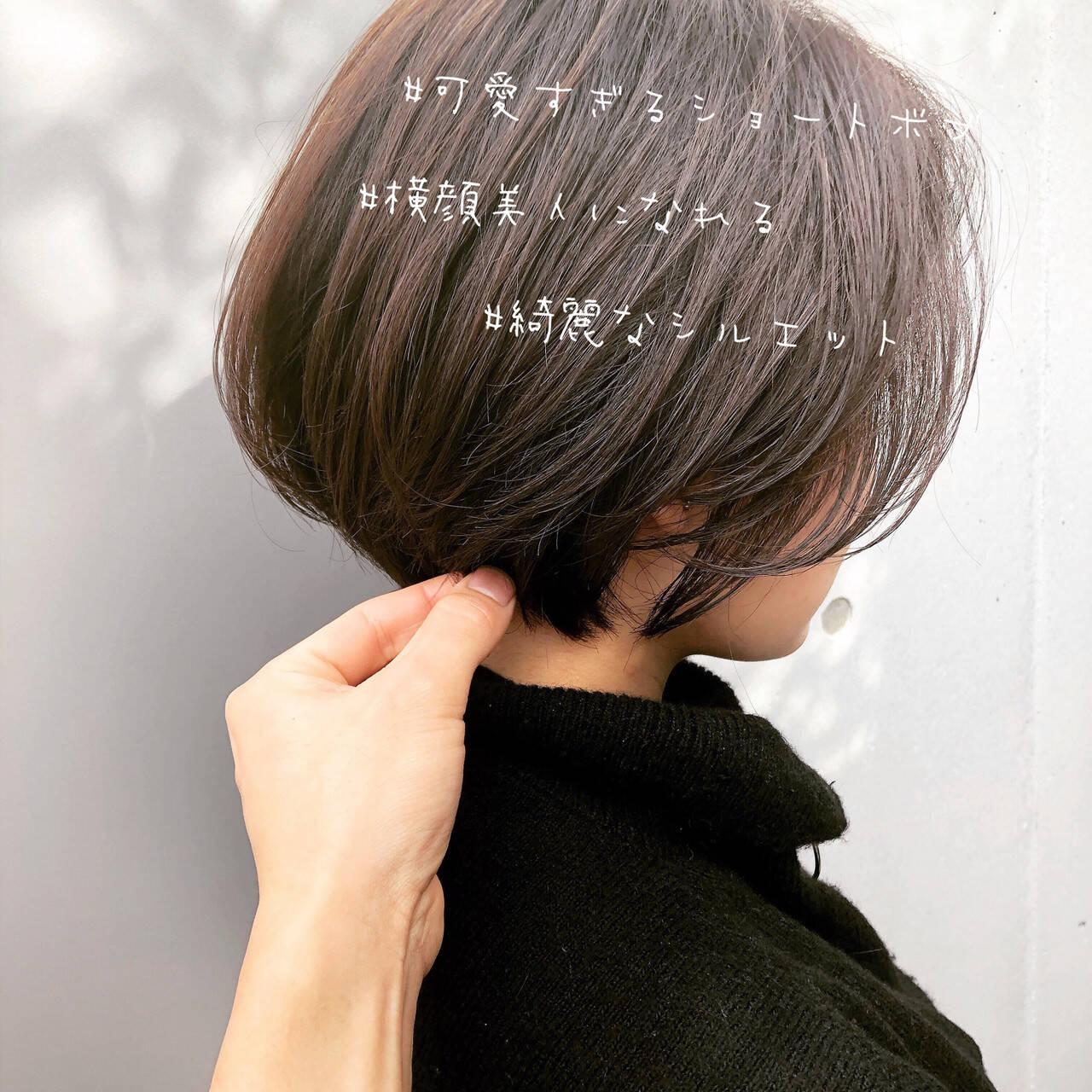 ベリーショート ショート ショートボブ ナチュラルヘアスタイルや髪型の写真・画像