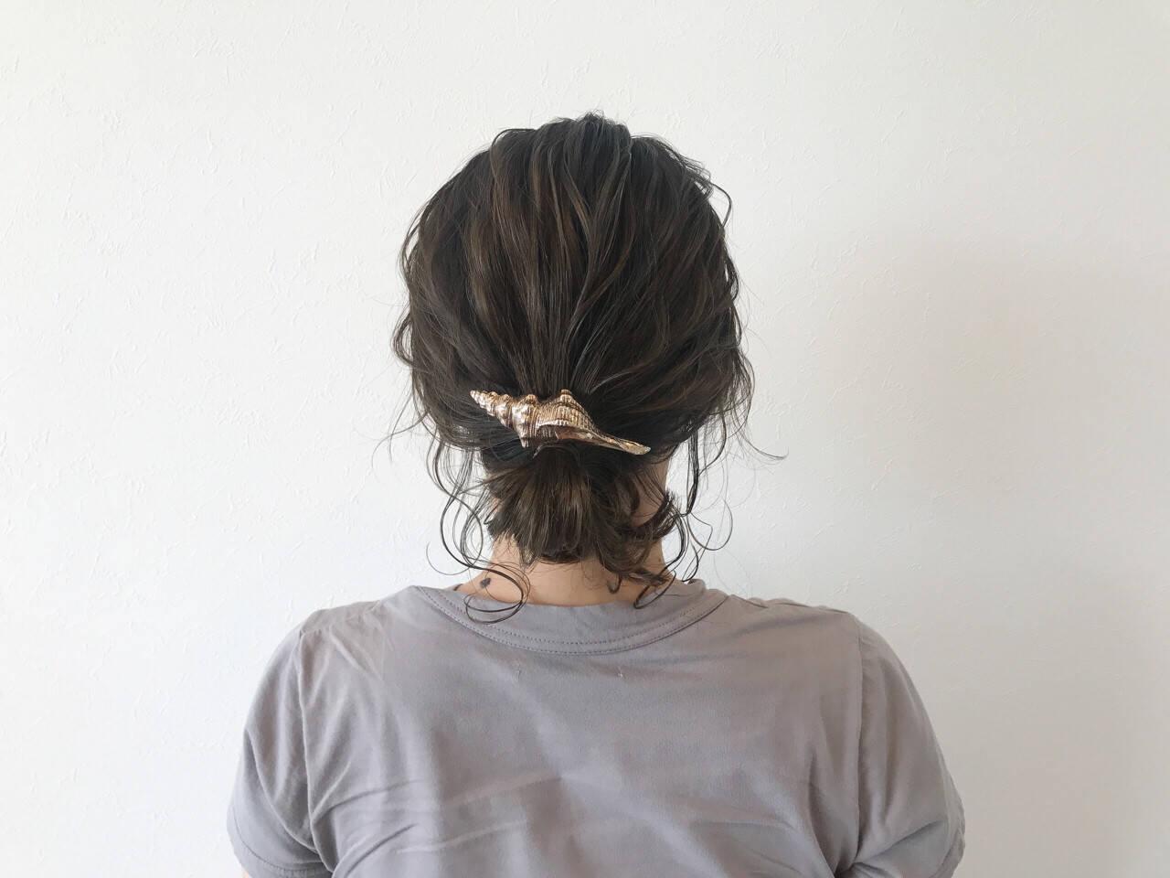 夏 デート 涼しげ ヘアアレンジヘアスタイルや髪型の写真・画像