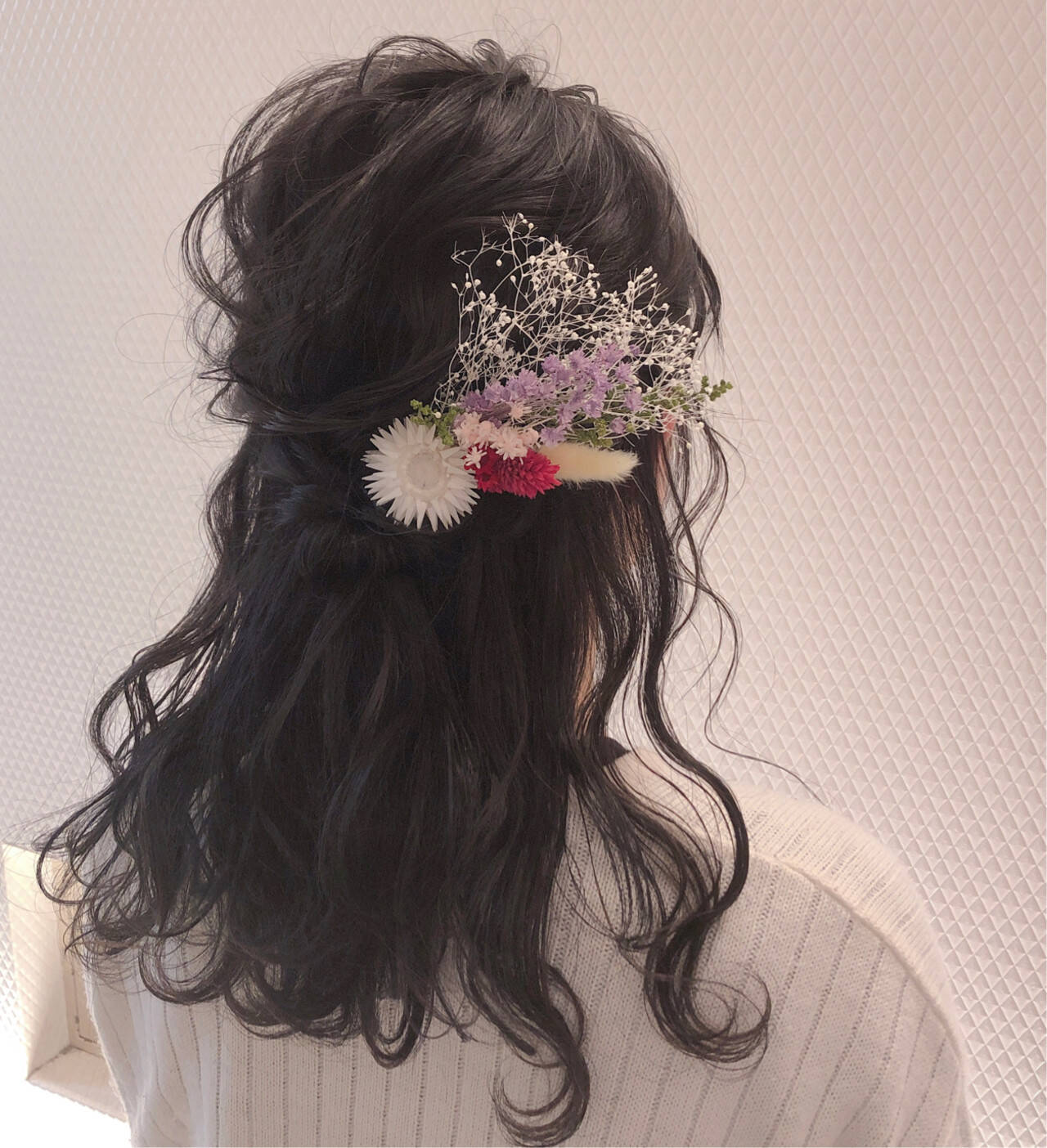 ヘアアレンジ ヘアセット フェミニン 結婚式ヘアアレンジヘアスタイルや髪型の写真・画像
