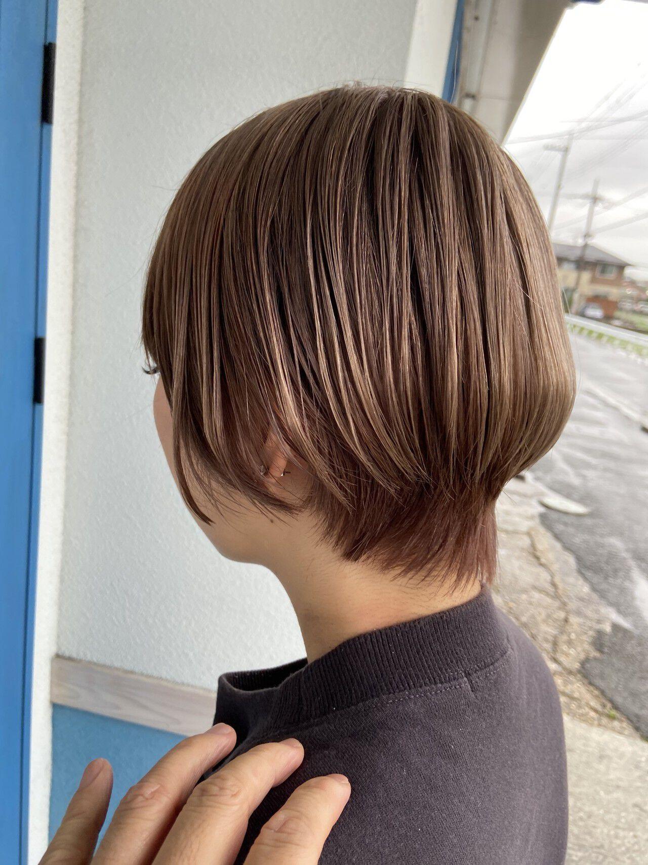 ショート ショートボブ ガーリー 愛されヘアスタイルや髪型の写真・画像