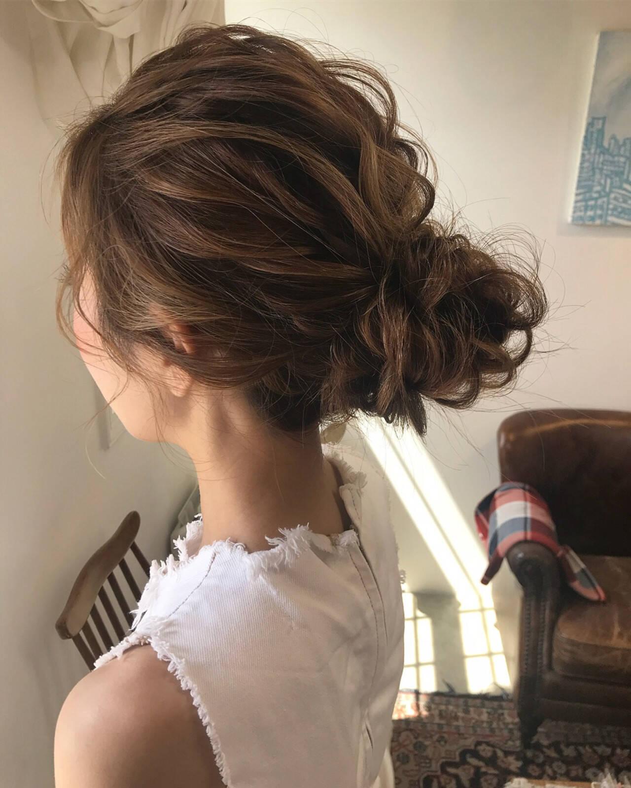 結婚式 上品 成人式 エレガントヘアスタイルや髪型の写真・画像