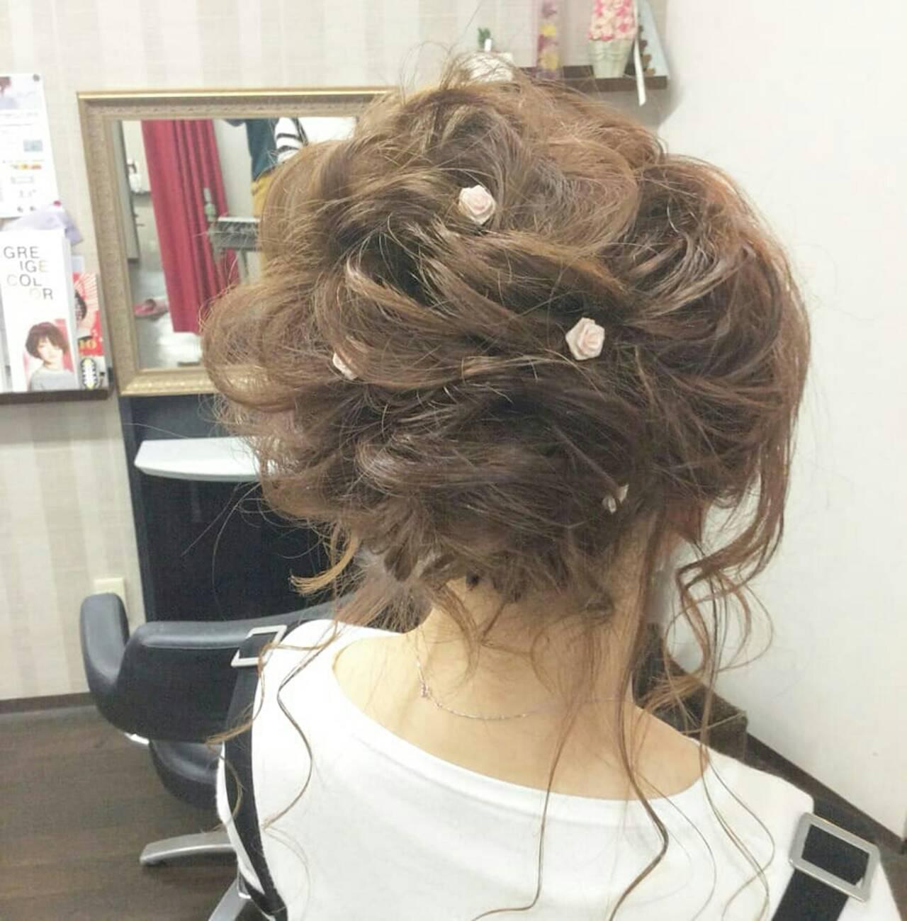 ナチュラル ヘアアレンジ ロング 結婚式ヘアスタイルや髪型の写真・画像