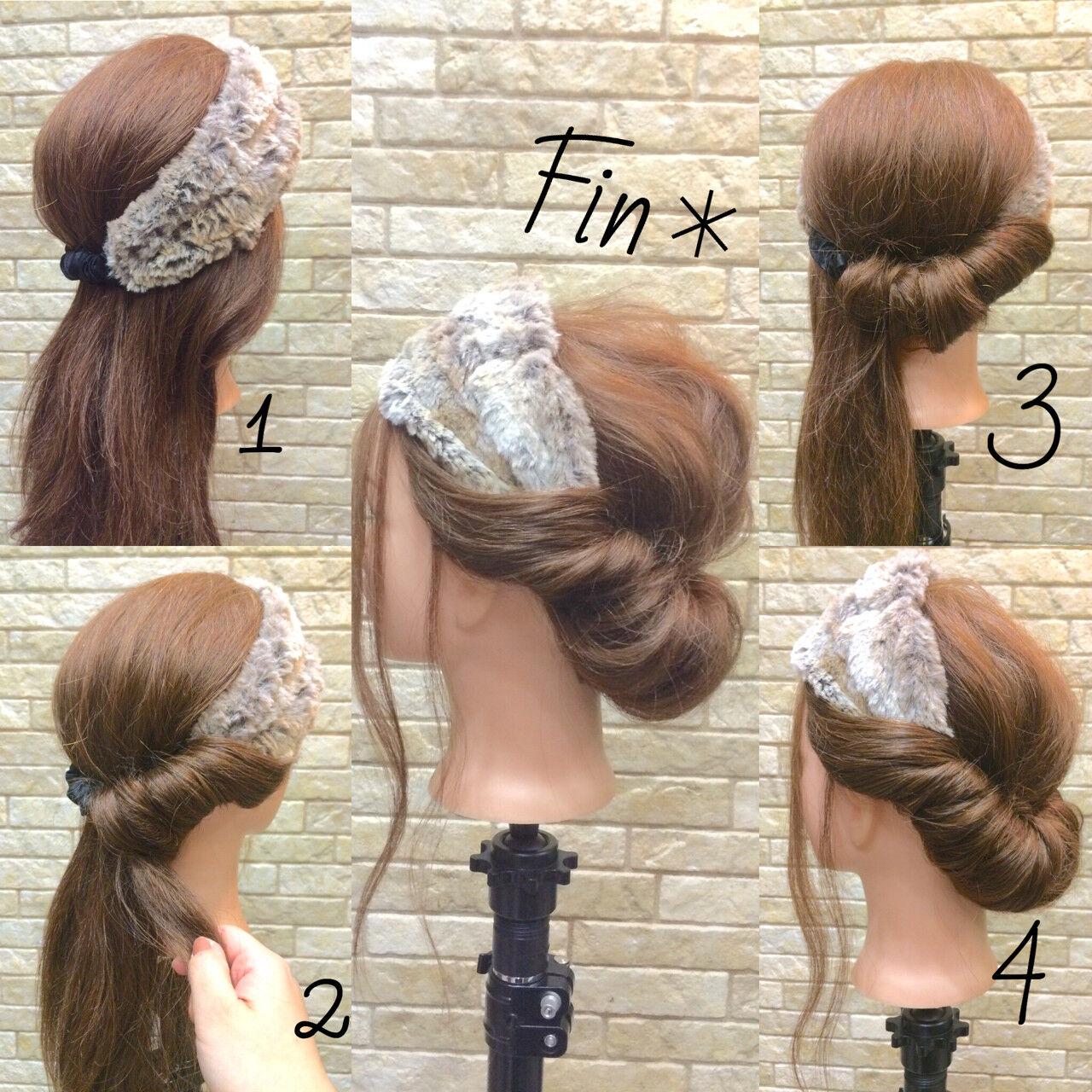 ショート 簡単ヘアアレンジ ロング ヘアアレンジヘアスタイルや髪型の写真・画像