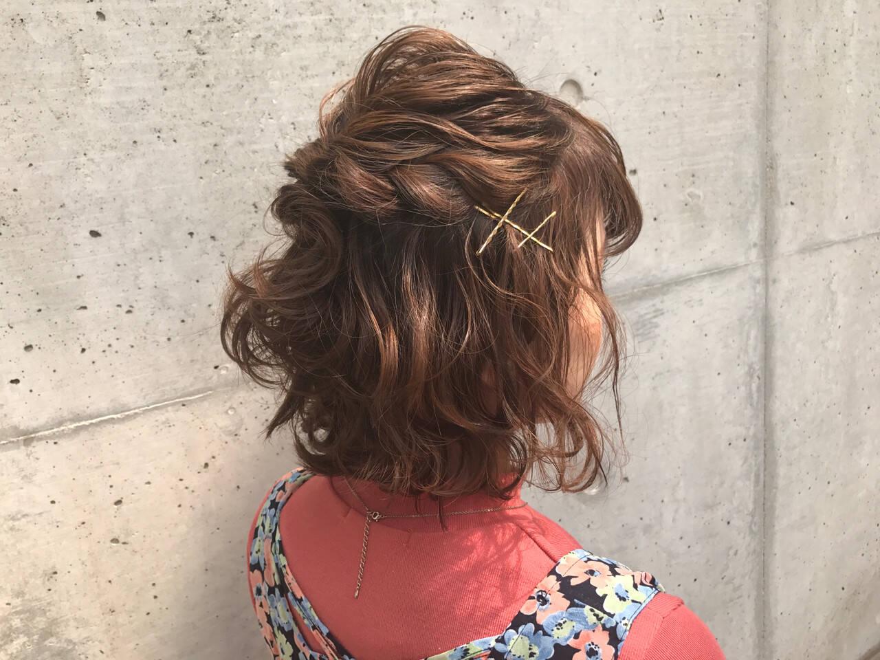 ヘアアレンジ 女子会 ガーリー 簡単ヘアアレンジヘアスタイルや髪型の写真・画像