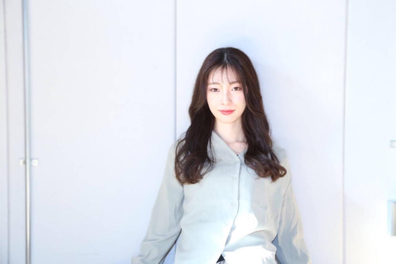 エレガント 韓国ヘア トリートメント ロングヘアスタイルや髪型の写真・画像