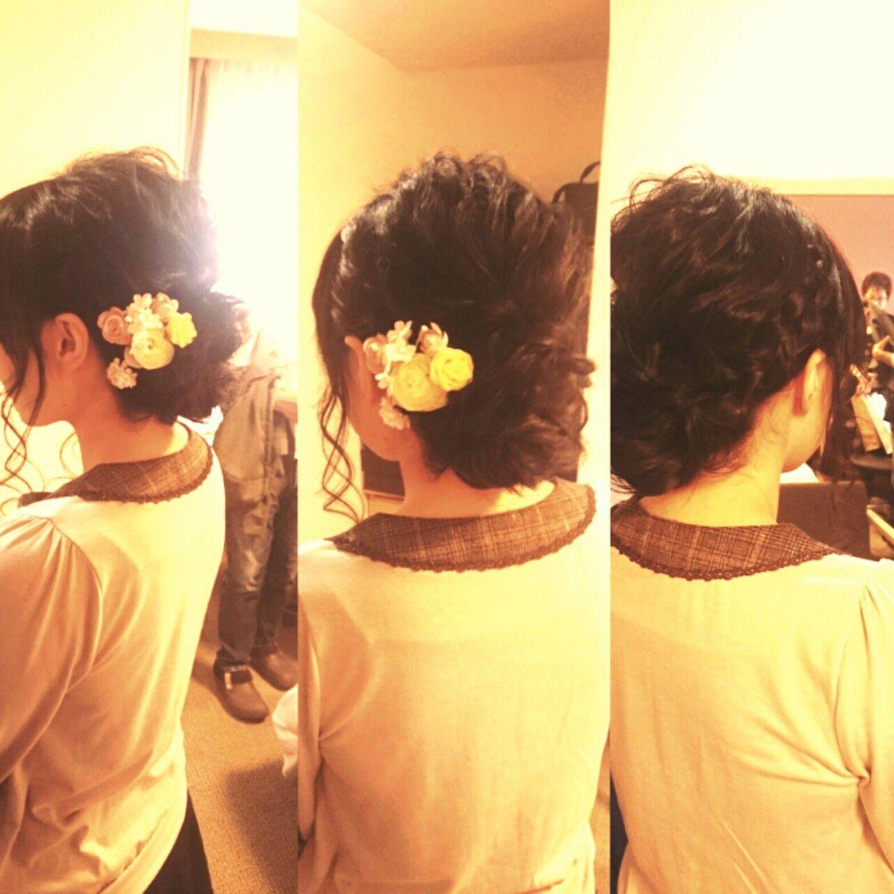 ゆるふわ 結婚式 ブライダル ロングヘアスタイルや髪型の写真・画像