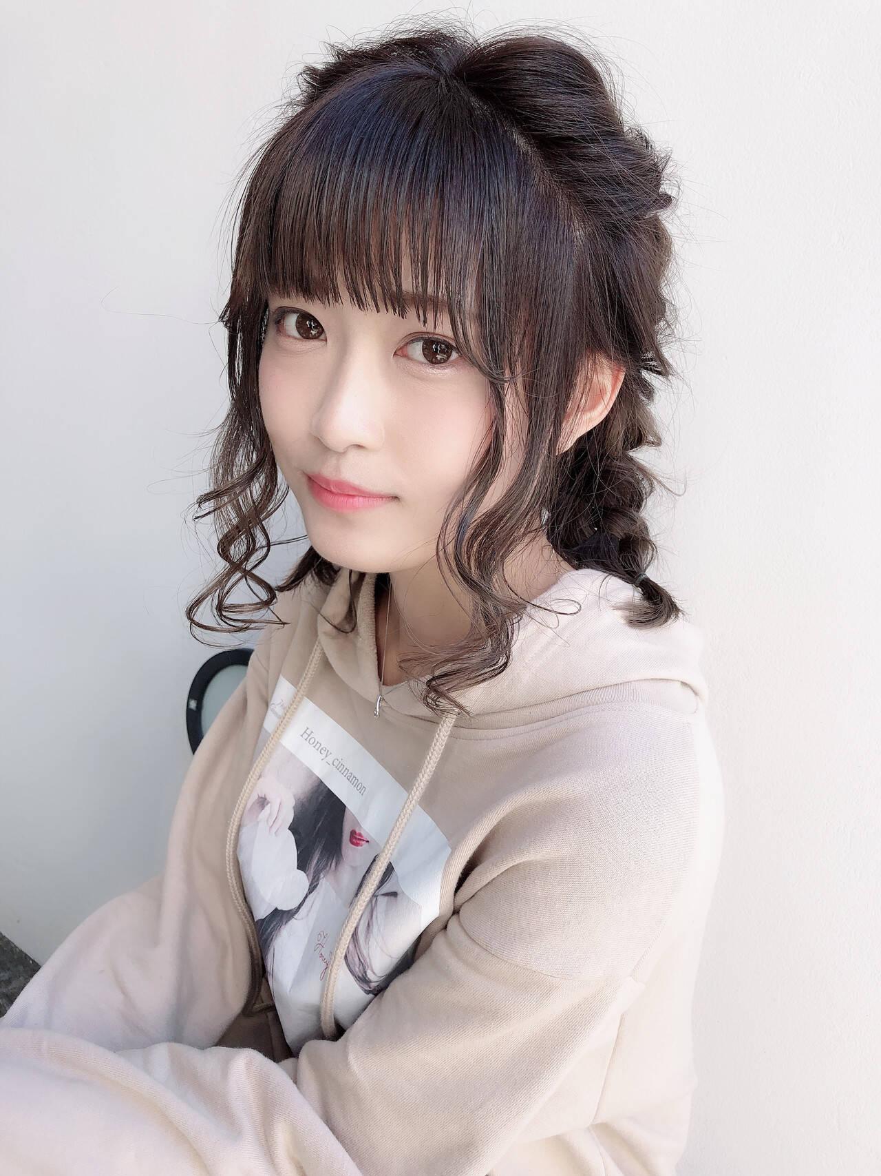 ミディアム 簡単ヘアアレンジ 成人式 アンニュイほつれヘアヘアスタイルや髪型の写真・画像