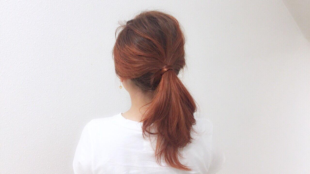 ストリート スポーツ ハイライト オレンジヘアスタイルや髪型の写真・画像
