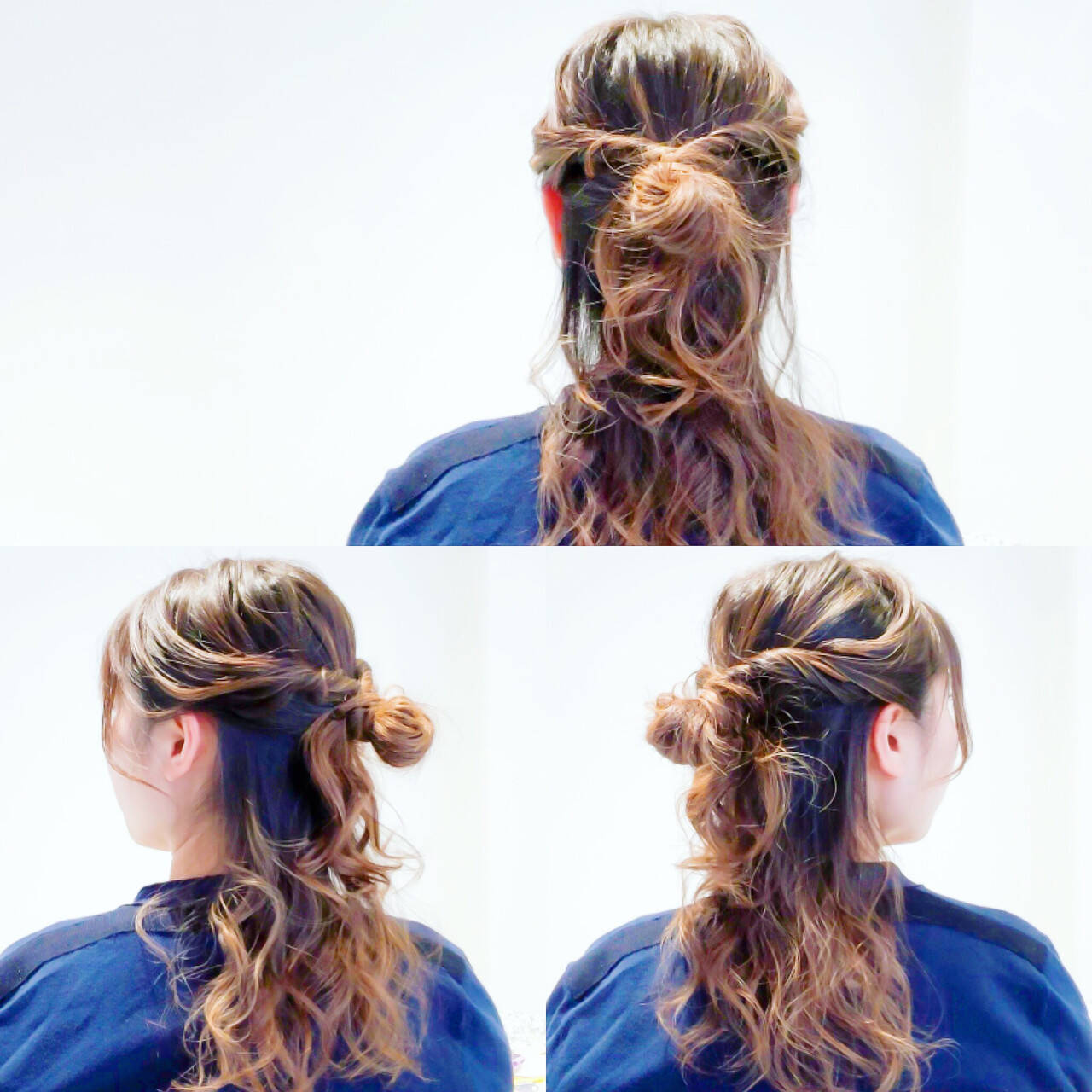 デート ロング ヘアアレンジ オフィスヘアスタイルや髪型の写真・画像