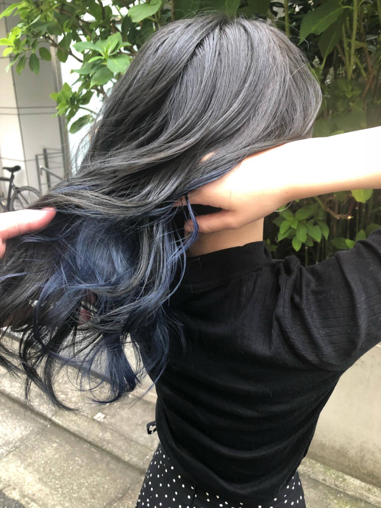 アンニュイ ハイライト ナチュラル グラデーションカラーヘアスタイルや髪型の写真・画像