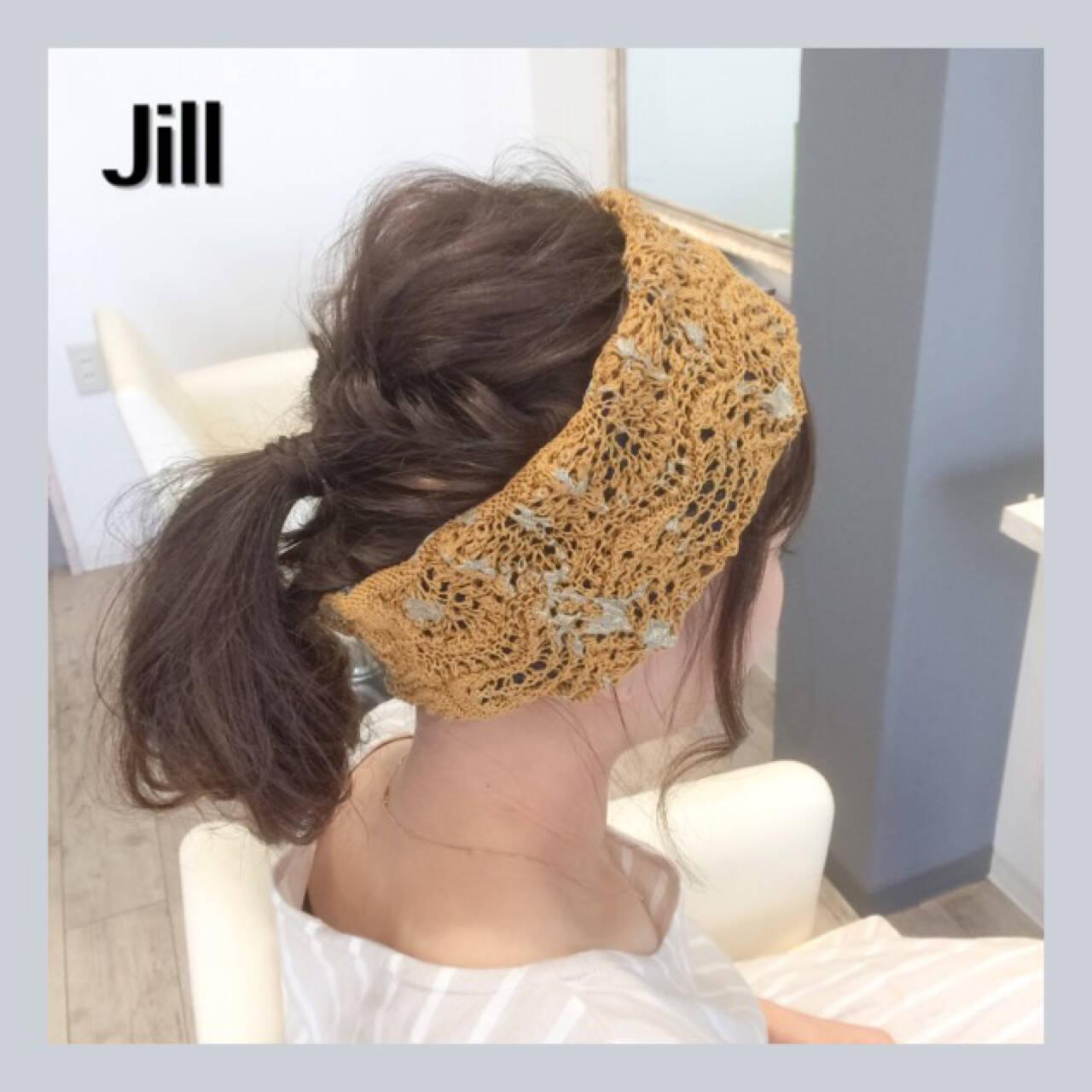 簡単ヘアアレンジ ショート ポニーテール ヘアアレンジヘアスタイルや髪型の写真・画像