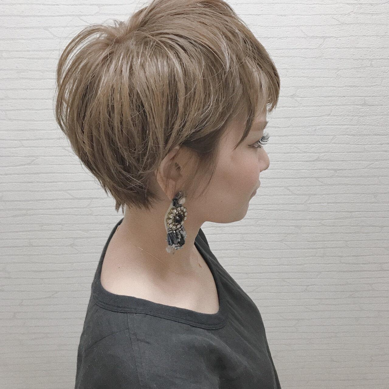 ショート ナチュラル 女子会 似合わせヘアスタイルや髪型の写真・画像