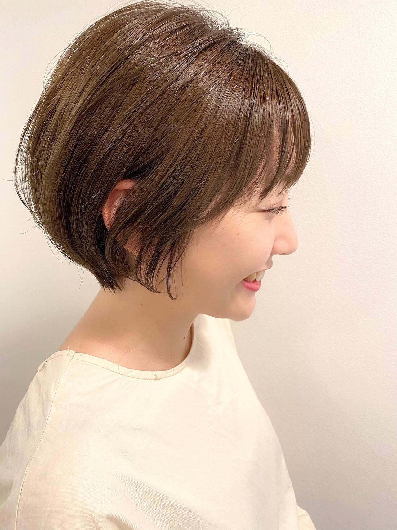 ショート ショートヘア ショートボブ 大人かわいいヘアスタイルや髪型の写真・画像