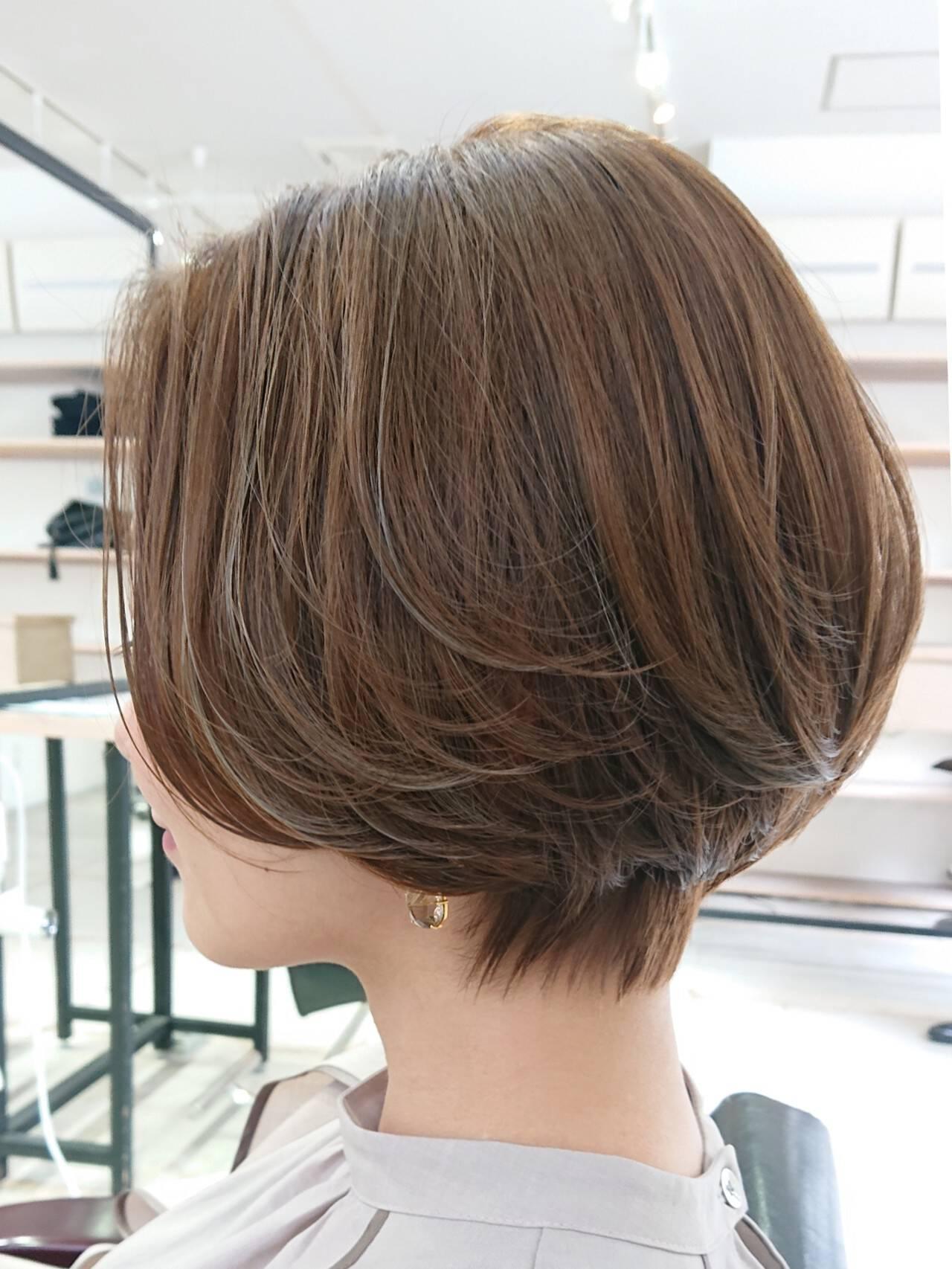 透明感 簡単スタイリング ボブ デザインカラーヘアスタイルや髪型の写真・画像