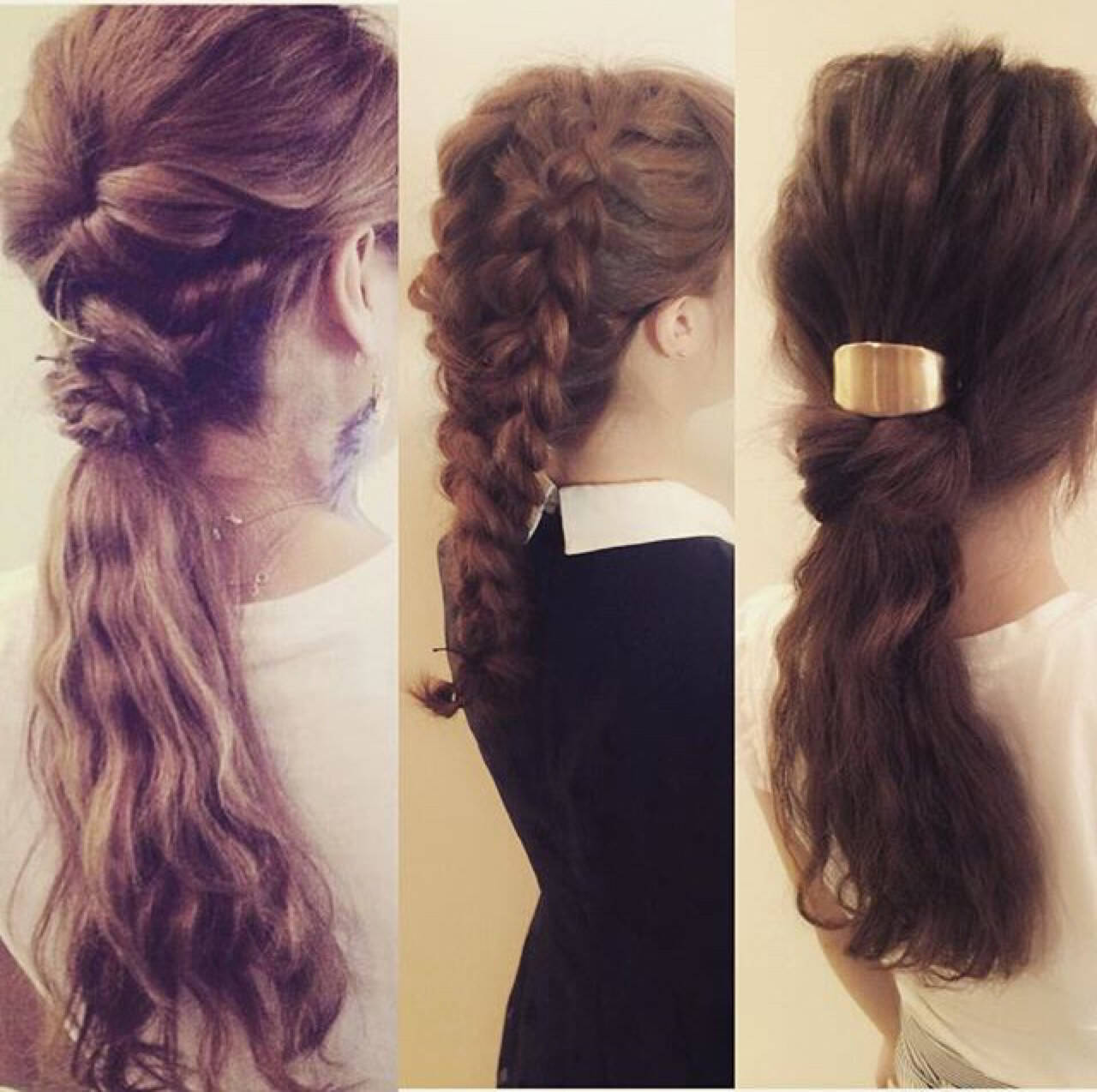三つ編み アッシュ ヘアアレンジ 簡単ヘアアレンジヘアスタイルや髪型の写真・画像