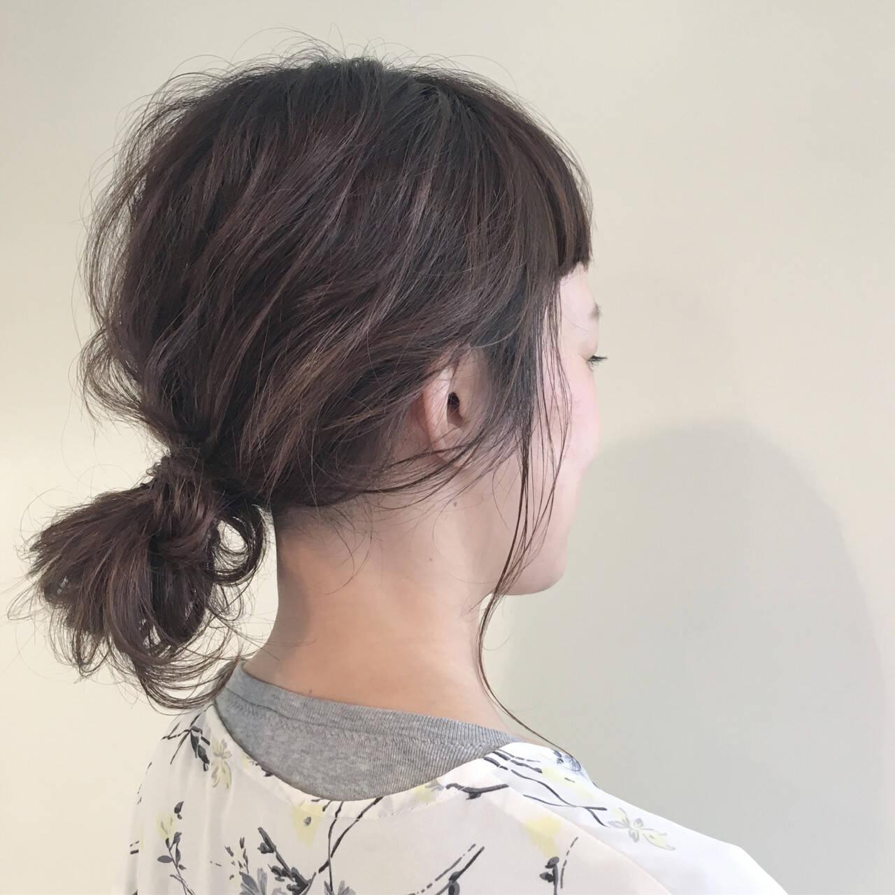 ヘアアレンジ ナチュラル 外国人風 ハイライトヘアスタイルや髪型の写真・画像