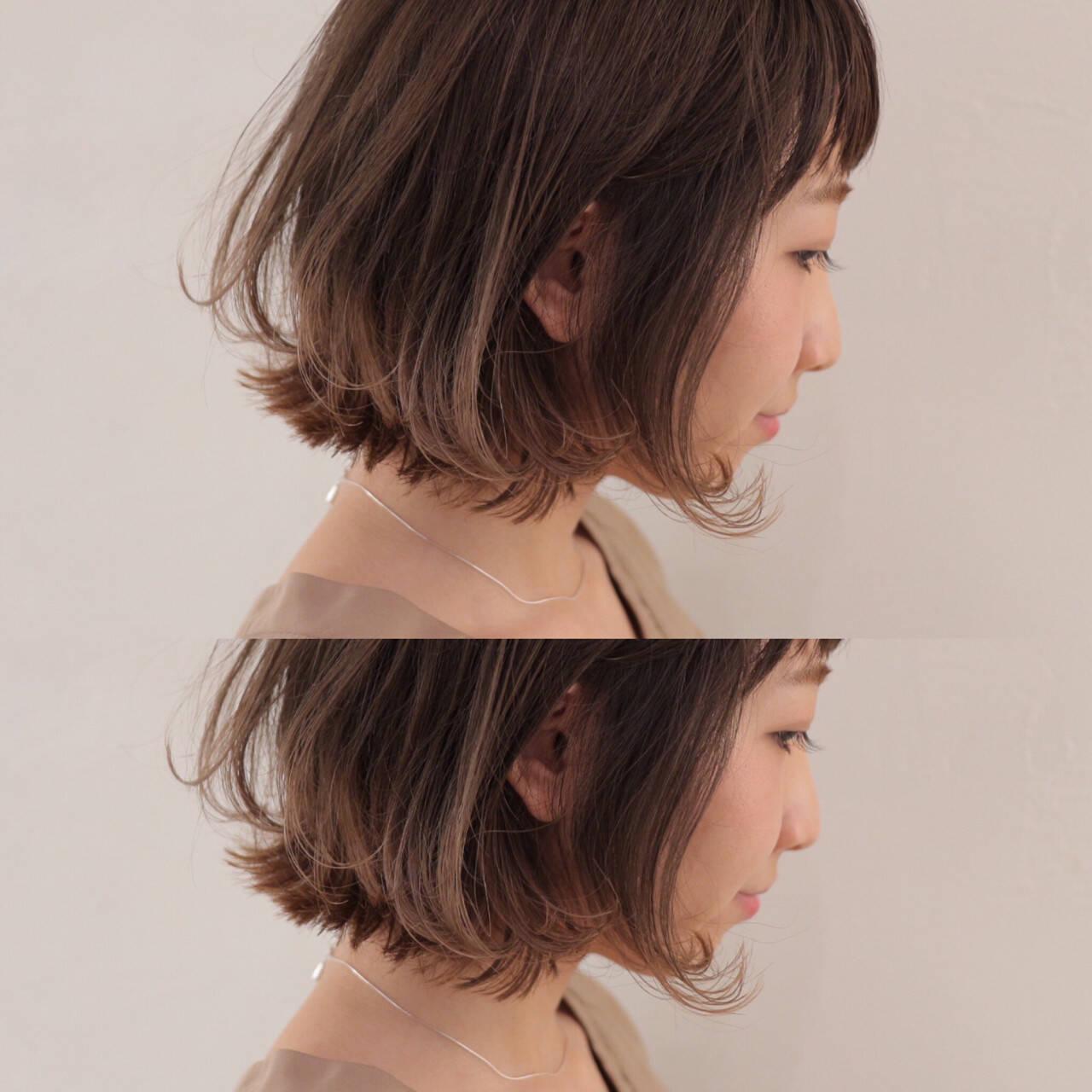 ハイライト グラデーションカラー ストリート ボブヘアスタイルや髪型の写真・画像