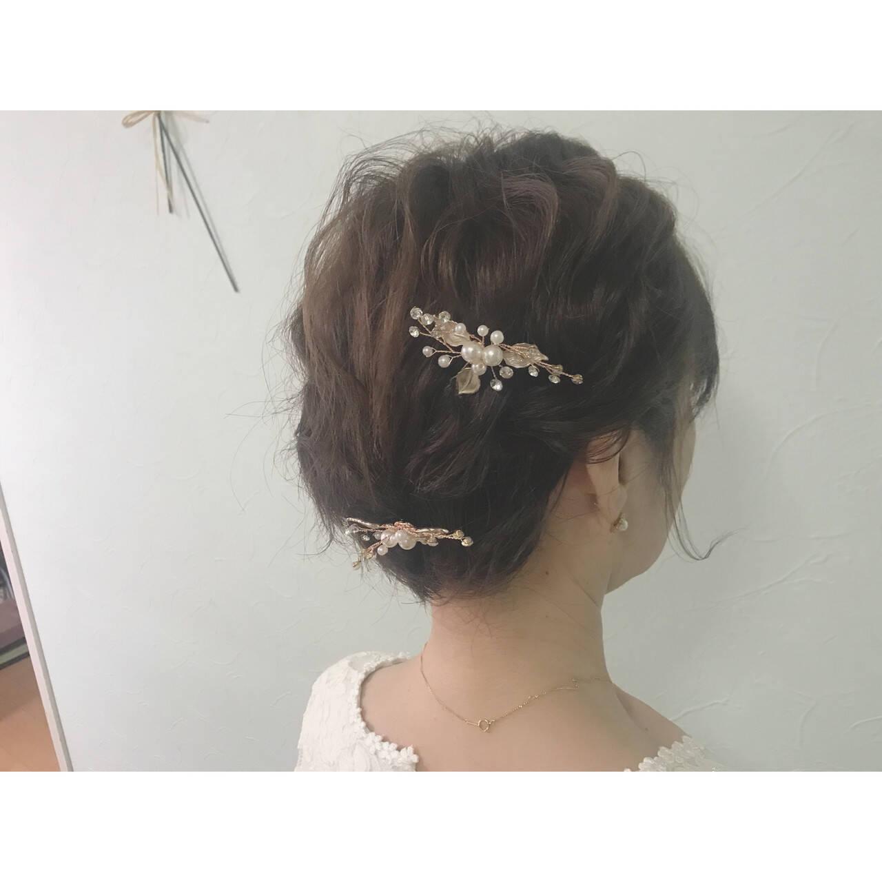 簡単ヘアアレンジ ヘアアレンジ 結婚式 成人式ヘアスタイルや髪型の写真・画像