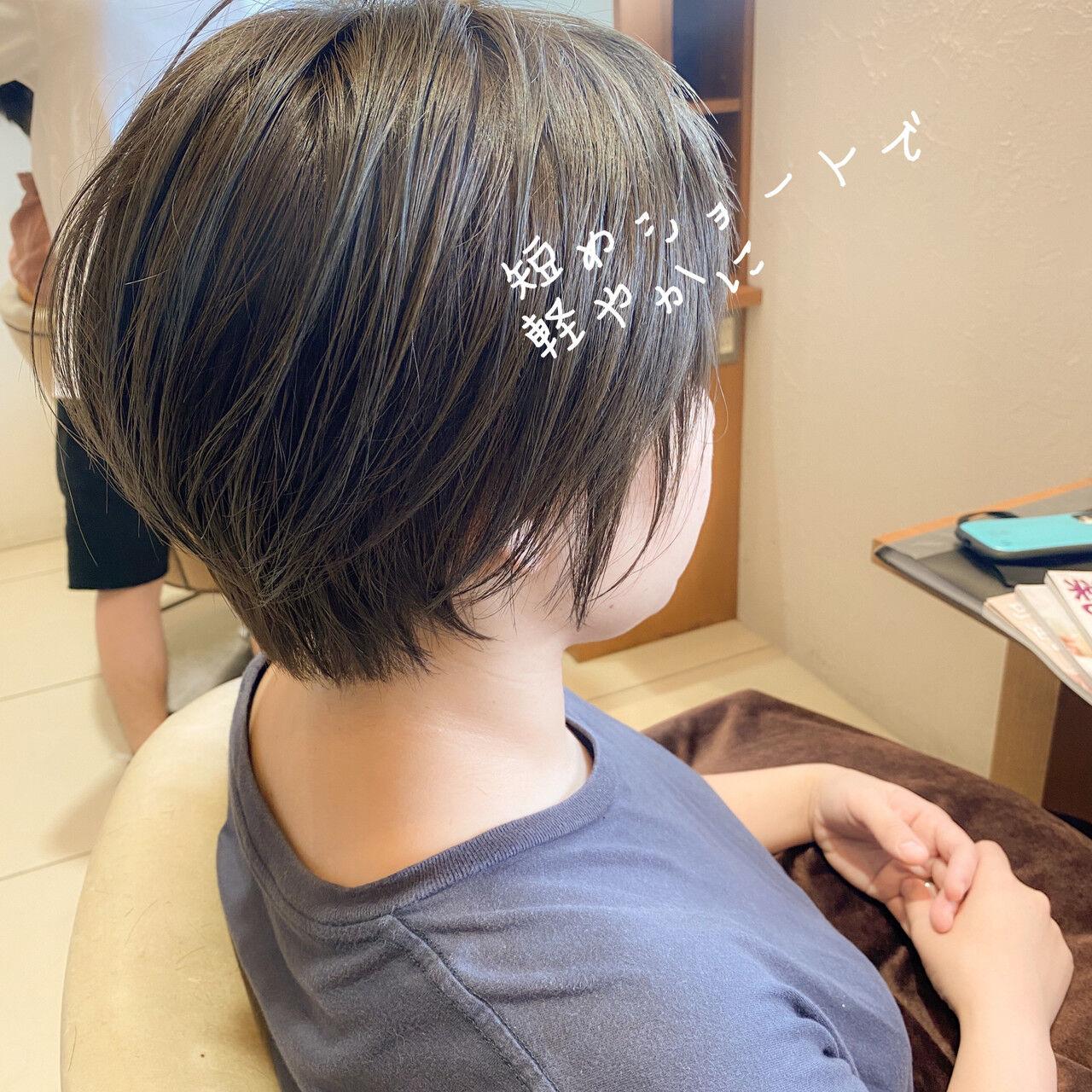 ショート ハンサムショート 小顔ヘア マッシュショートヘアスタイルや髪型の写真・画像