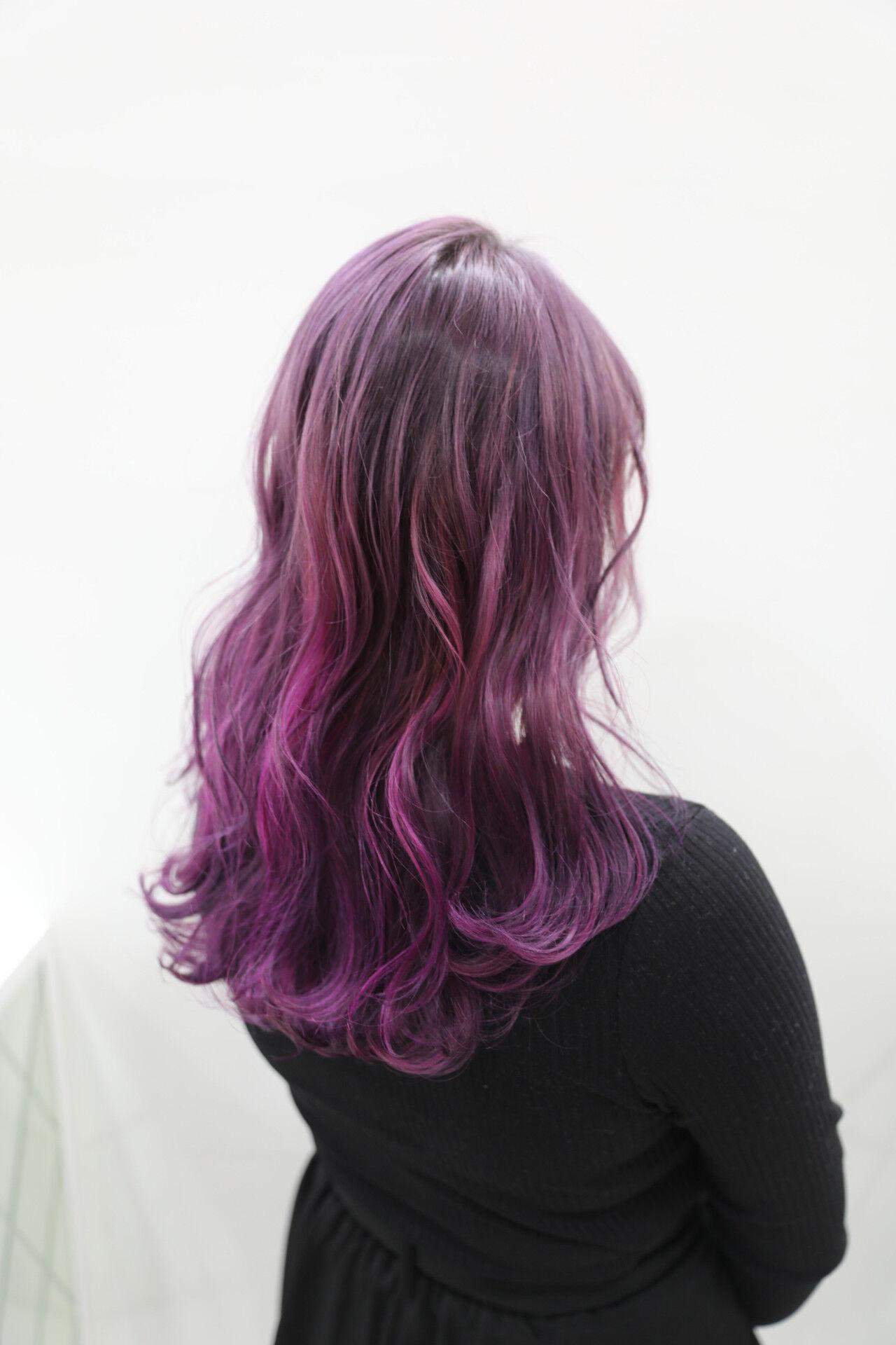 ラベンダーピンク ピンクアッシュ カラーバター ガーリーヘアスタイルや髪型の写真・画像