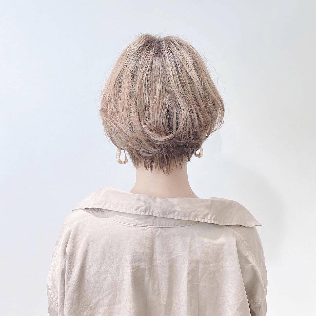 ミニボブ ショート ショートヘア ベリーショートヘアスタイルや髪型の写真・画像