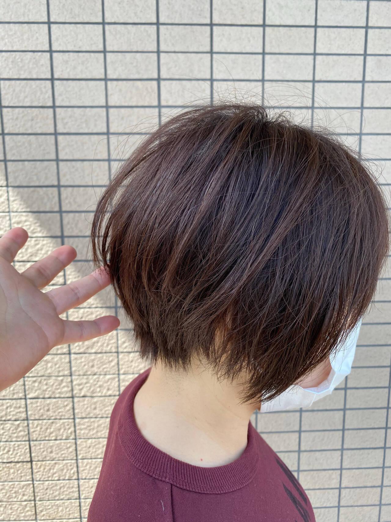 ハンサムショート 丸みショート ショートカット ショートヘアスタイルや髪型の写真・画像