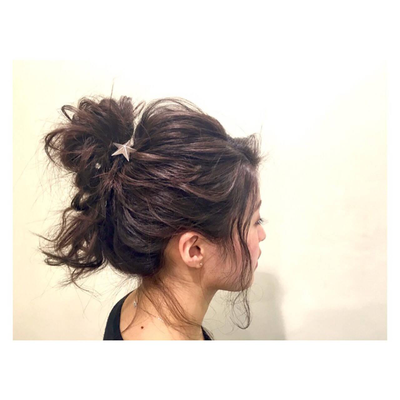 外国人風 フェミニン デート ヘアアレンジヘアスタイルや髪型の写真・画像