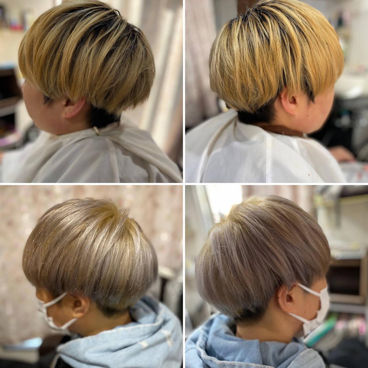 ベリーショート ブリーチオンカラー ブリーチ必須 ブリーチカラーヘアスタイルや髪型の写真・画像