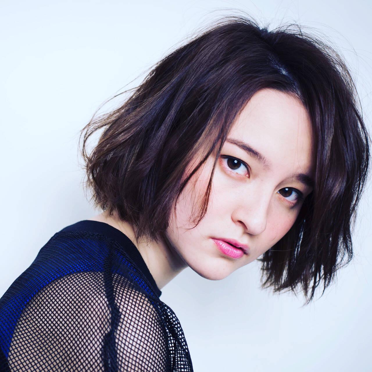暗髪 モード かっこいい 黒髪ヘアスタイルや髪型の写真・画像