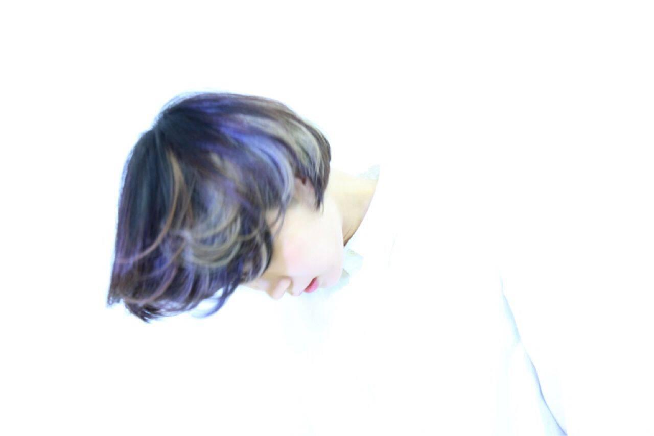モード 秋 ボブ ストリートヘアスタイルや髪型の写真・画像