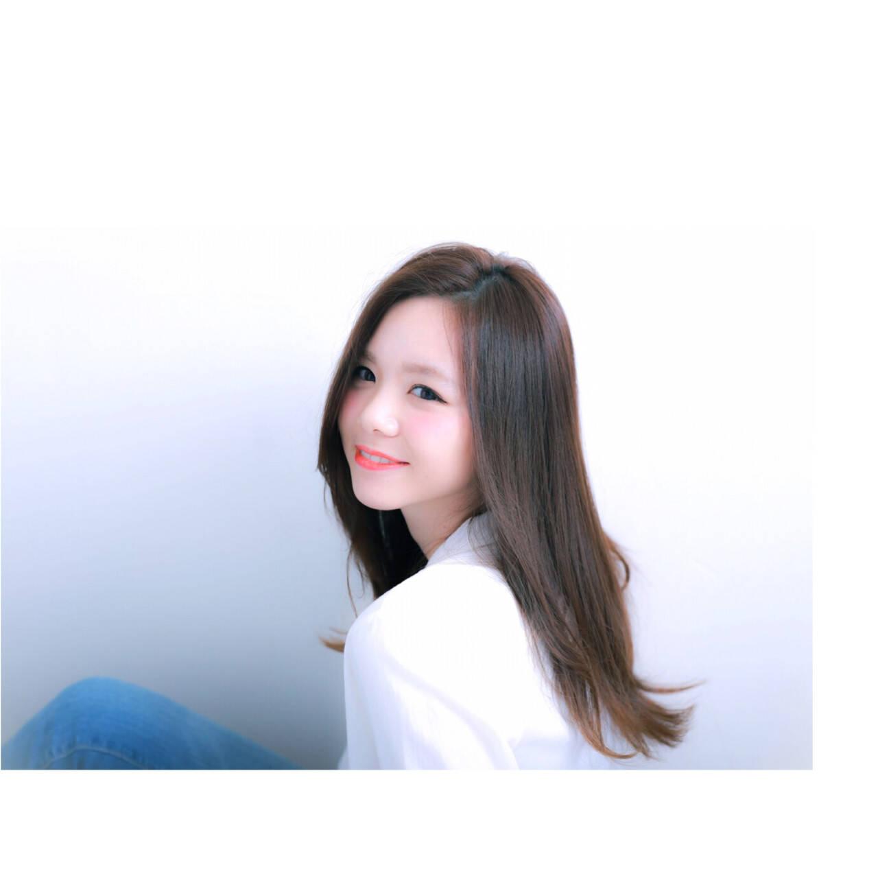 大人かわいい ナチュラル 大人女子 ロングヘアスタイルや髪型の写真・画像
