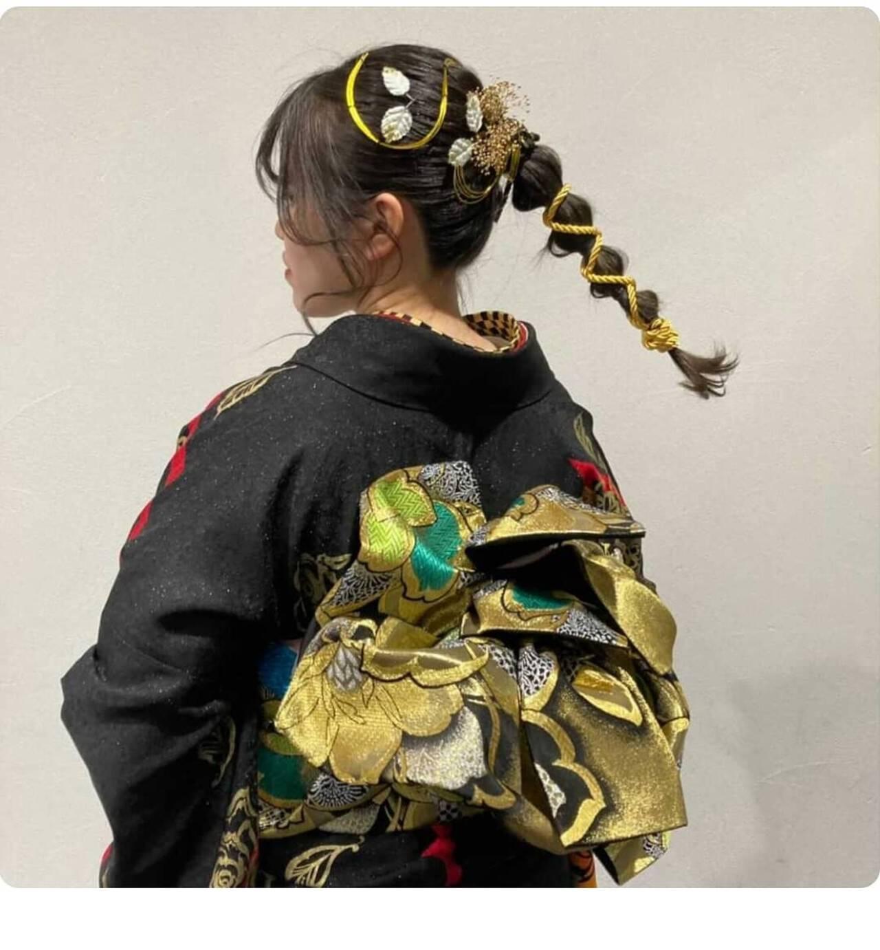 成人式ヘア ヘアセット 成人式ヘアメイク着付け ロングヘアスタイルや髪型の写真・画像
