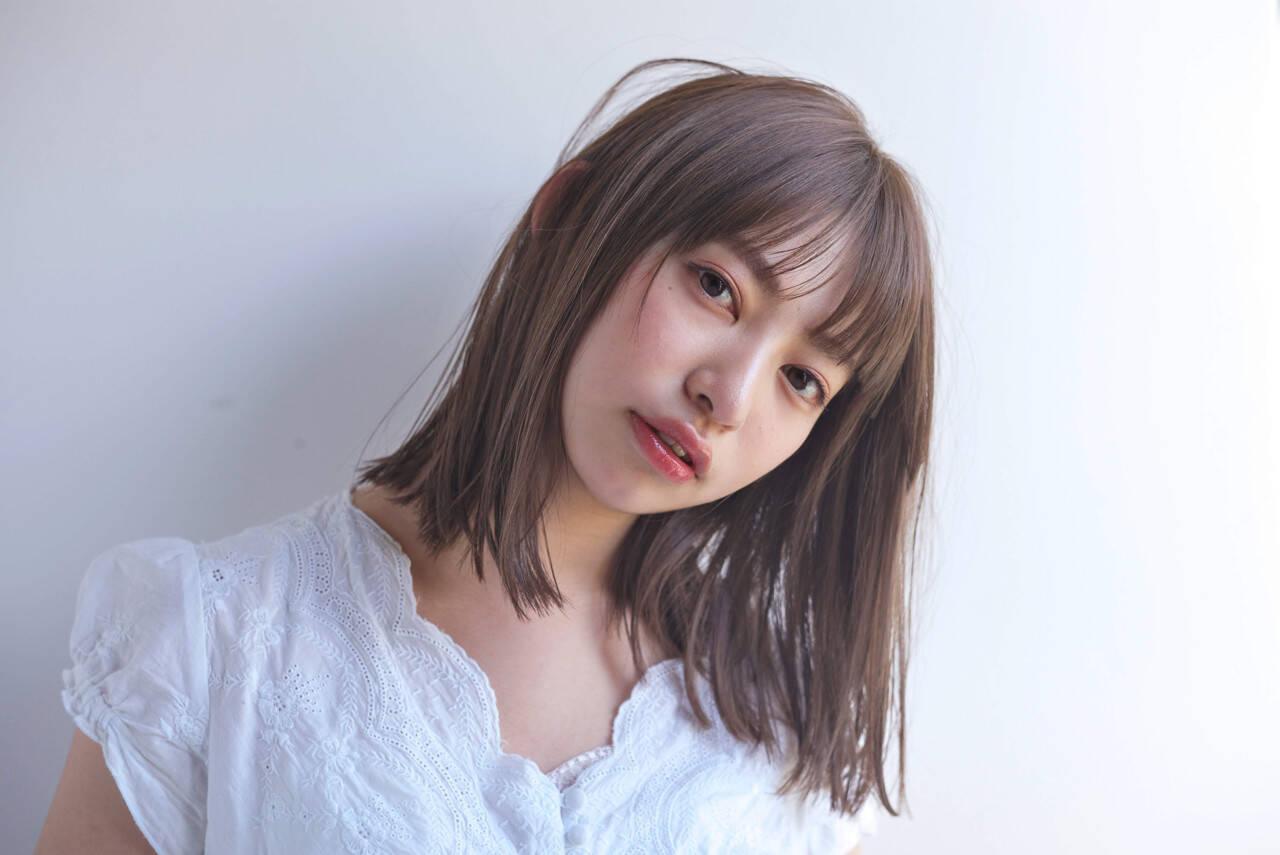 小顔 似合わせ グレージュ 外国人風カラーヘアスタイルや髪型の写真・画像