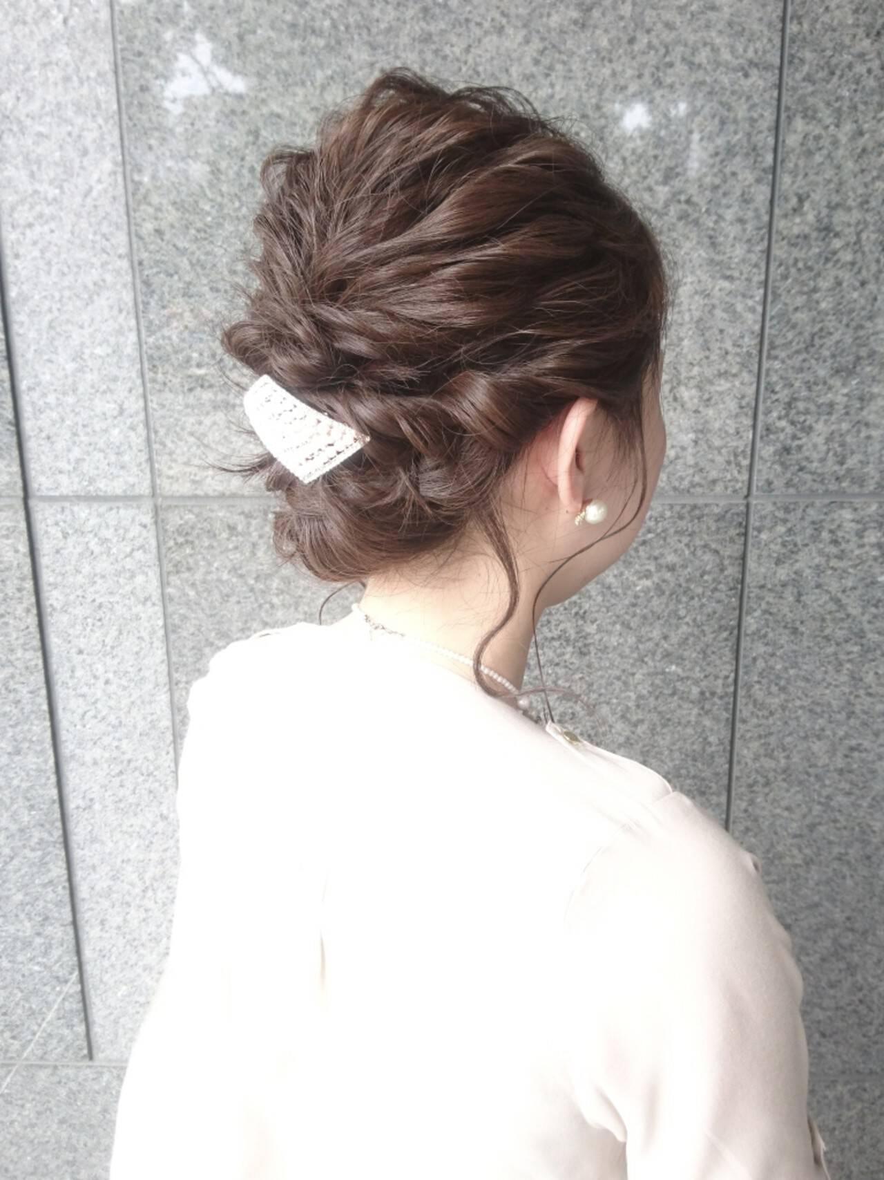 結婚式 フェミニン ゆるふわ こなれ感ヘアスタイルや髪型の写真・画像