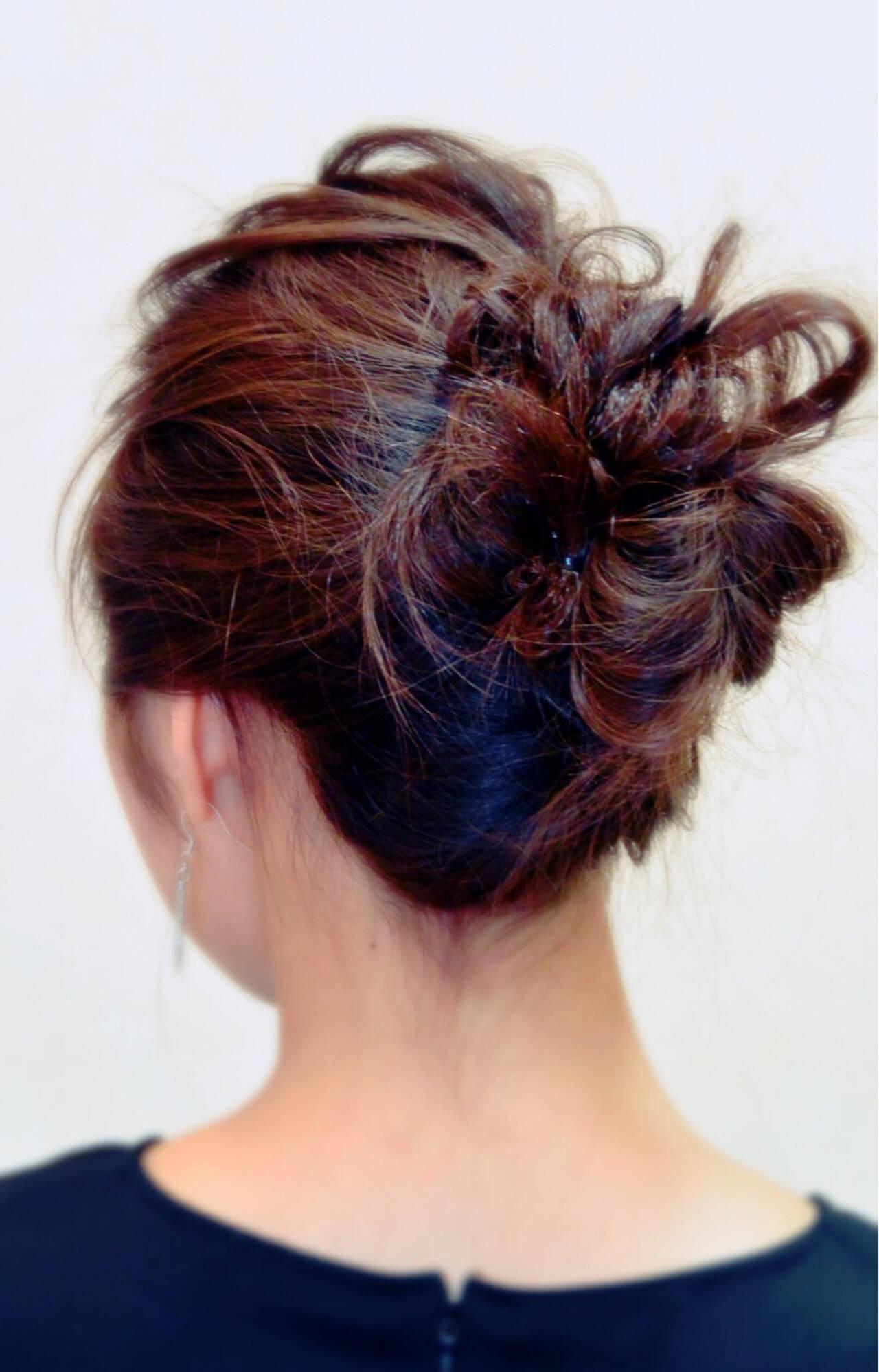 編み込み エレガント 三つ編み 上品ヘアスタイルや髪型の写真・画像