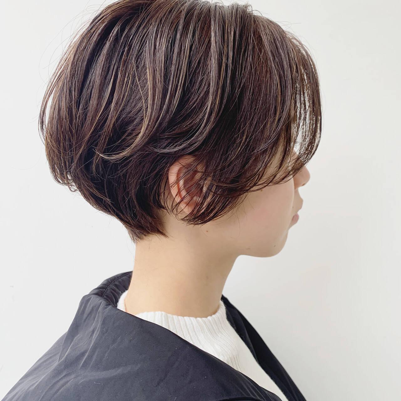 ショート ベリーショート ショートヘア 極細ハイライトヘアスタイルや髪型の写真・画像