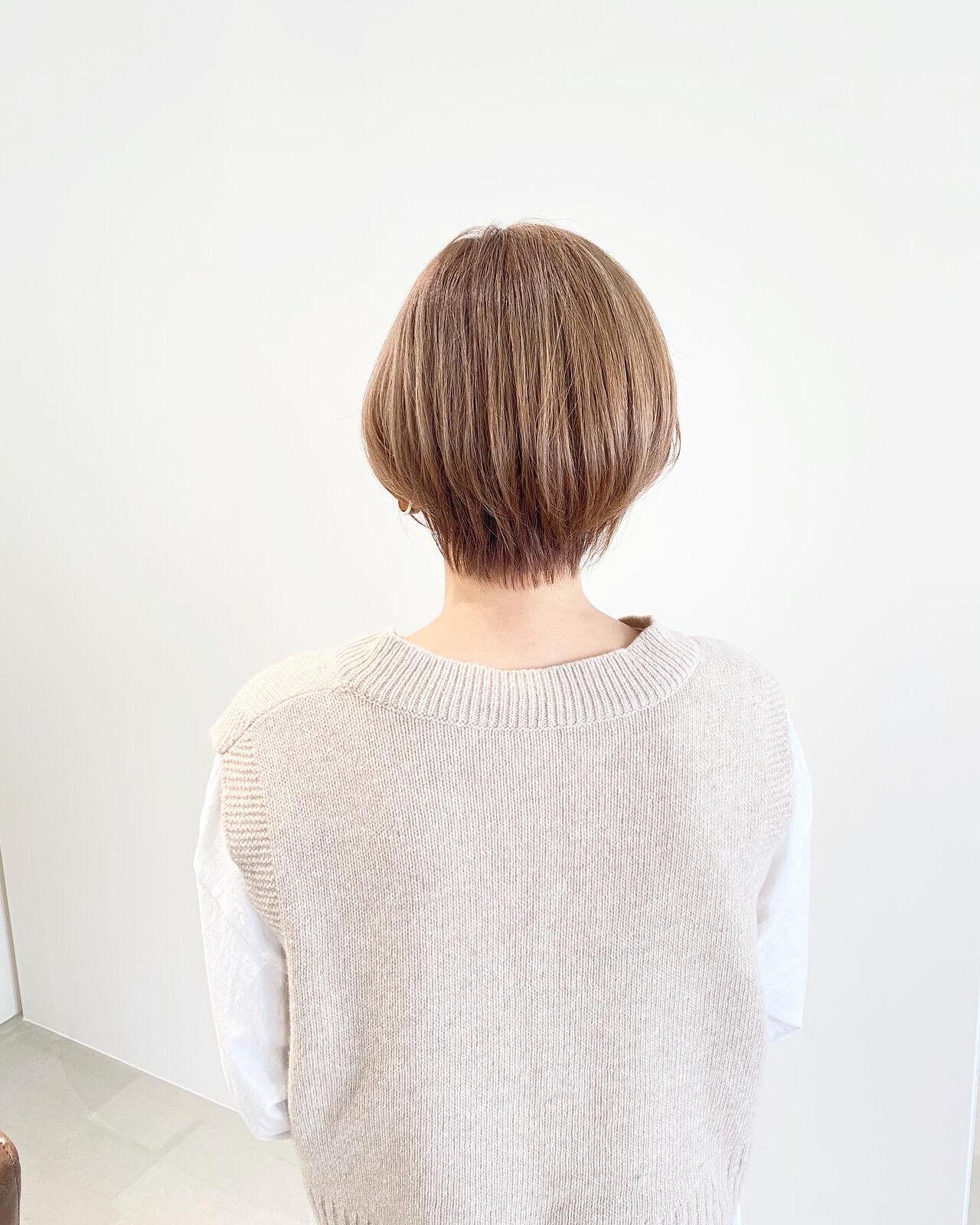 ショートヘア ショートボブ ショート ミニボブヘアスタイルや髪型の写真・画像