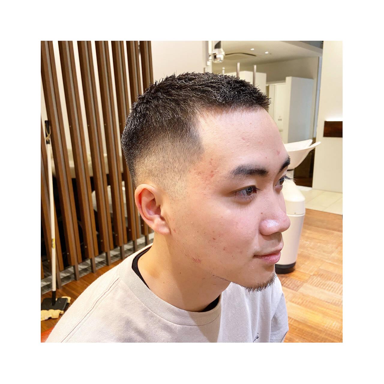 メンズカット ショート ストリート メンズヘアスタイルや髪型の写真・画像