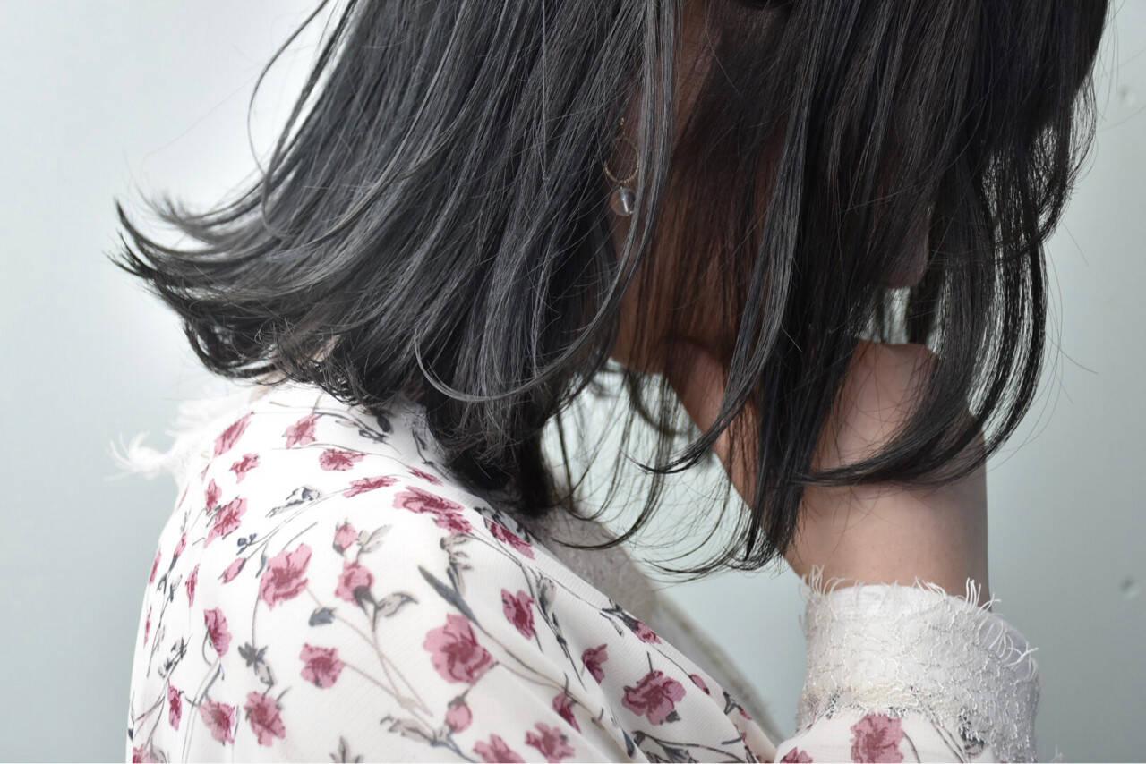 ナチュラル グレージュ 女子会 ボブヘアスタイルや髪型の写真・画像