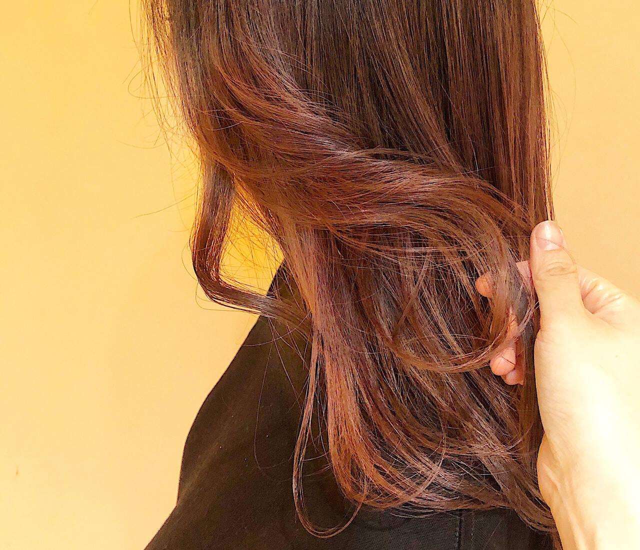ラベンダーカラー ナチュラル ロング グラデーションカラーヘアスタイルや髪型の写真・画像