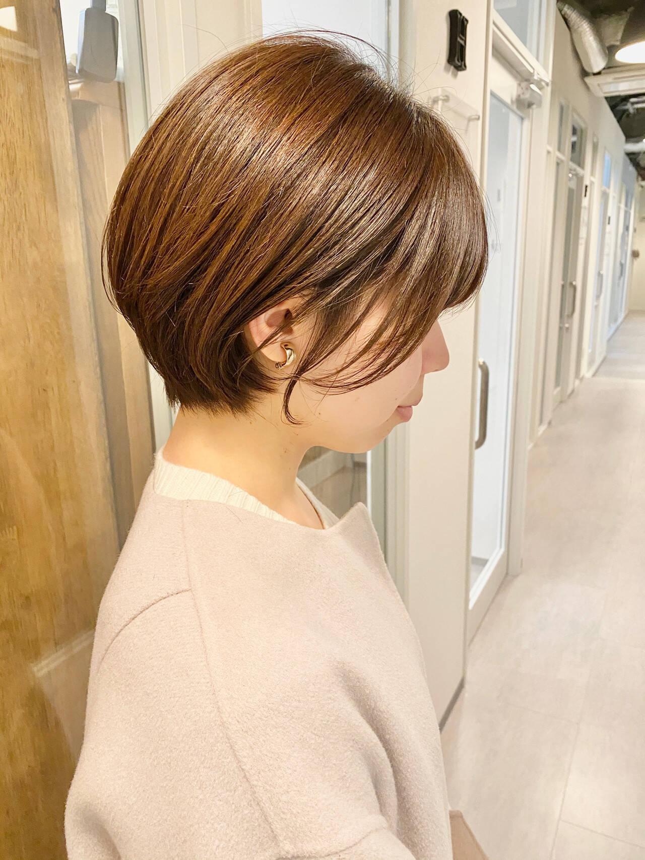 ショートヘア ショート デート 大人かわいいヘアスタイルや髪型の写真・画像
