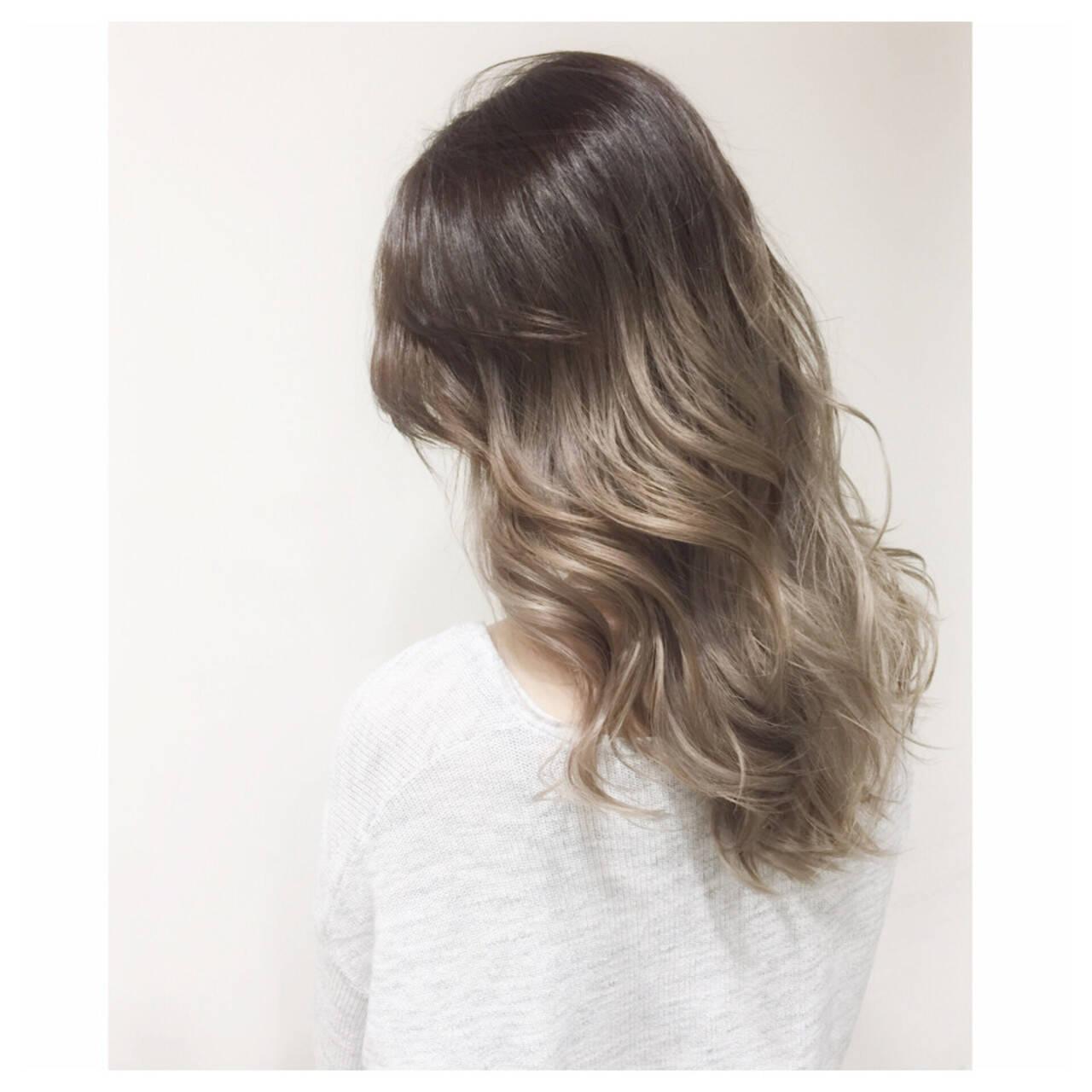 外国人風 渋谷系 ヘアアレンジ ダブルカラーヘアスタイルや髪型の写真・画像
