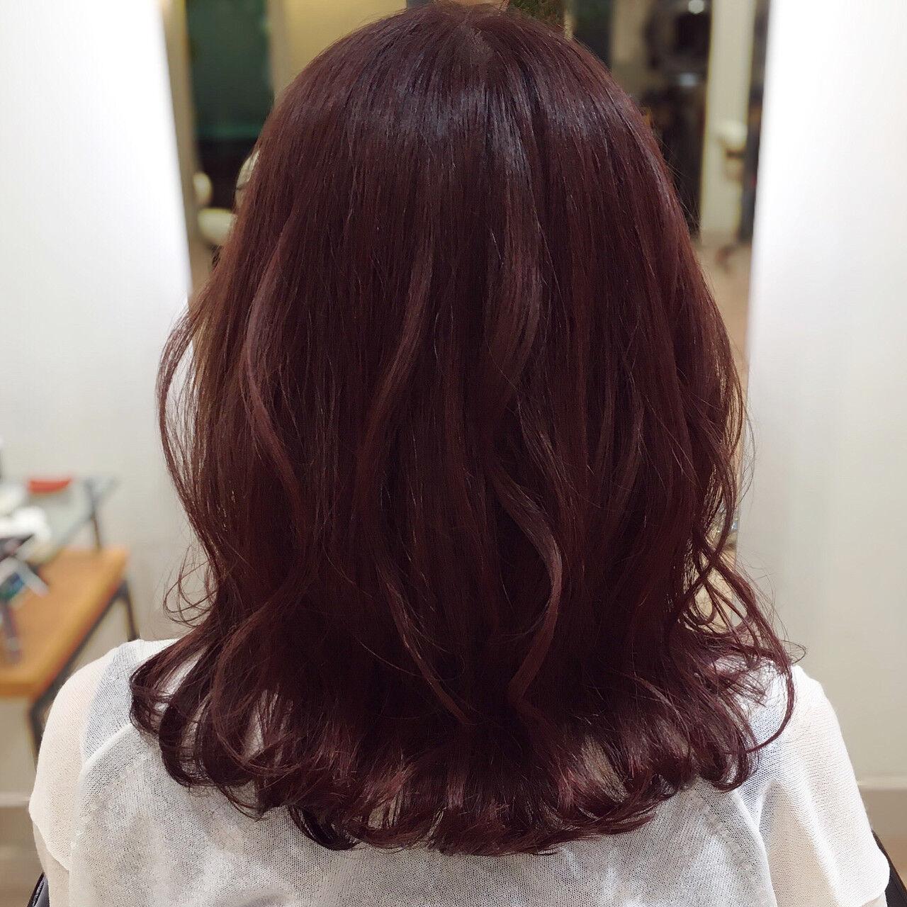 ピンクベージュ ピンク ピンクブラウン ピンクバイオレットヘアスタイルや髪型の写真・画像