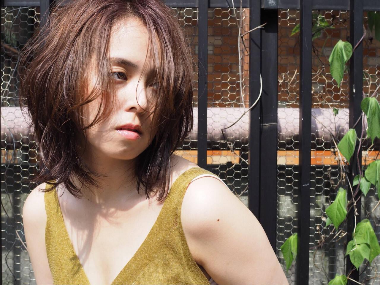 ゆるふわ エレガント 前髪アレンジ パーマヘアスタイルや髪型の写真・画像