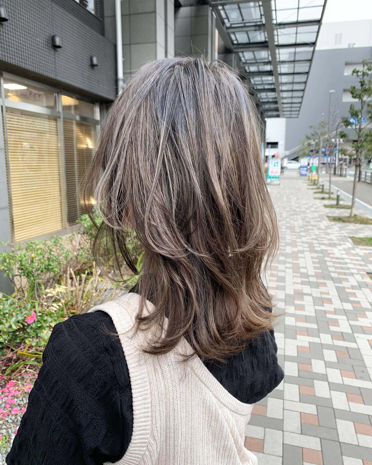 レイヤーヘアー レイヤーカット ストリート ヘアカラーヘアスタイルや髪型の写真・画像