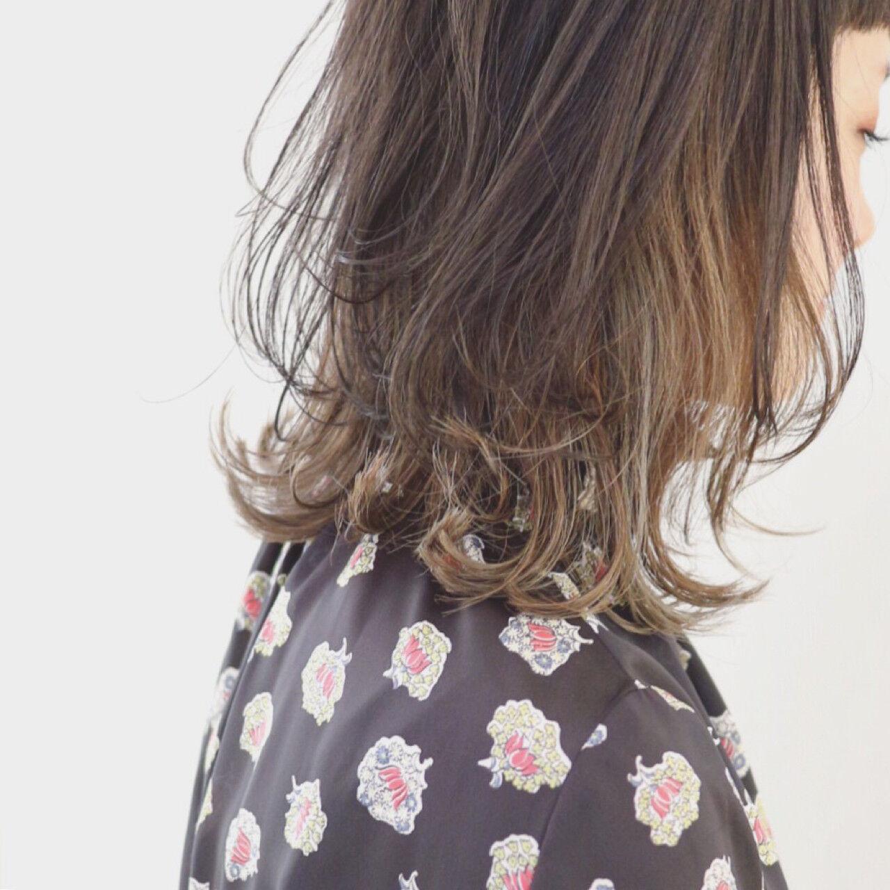 レイヤーカット ストリート 外国人風 グラデーションカラーヘアスタイルや髪型の写真・画像