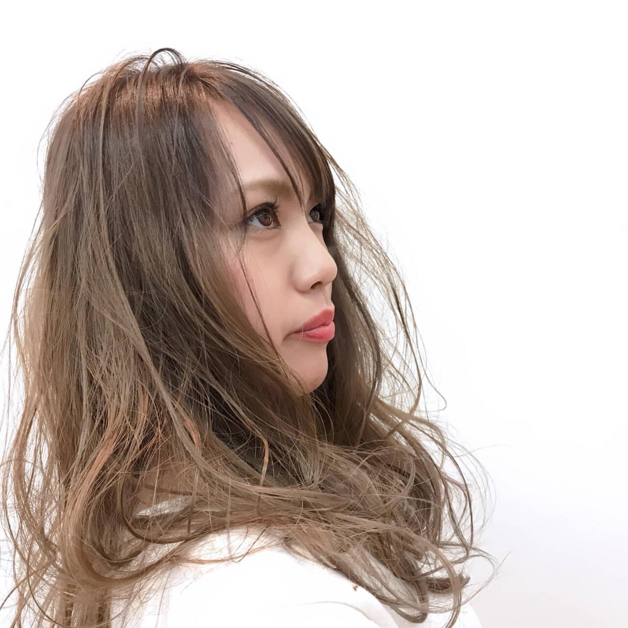 外国人風 透明感 ハイライト 簡単ヘアスタイルや髪型の写真・画像