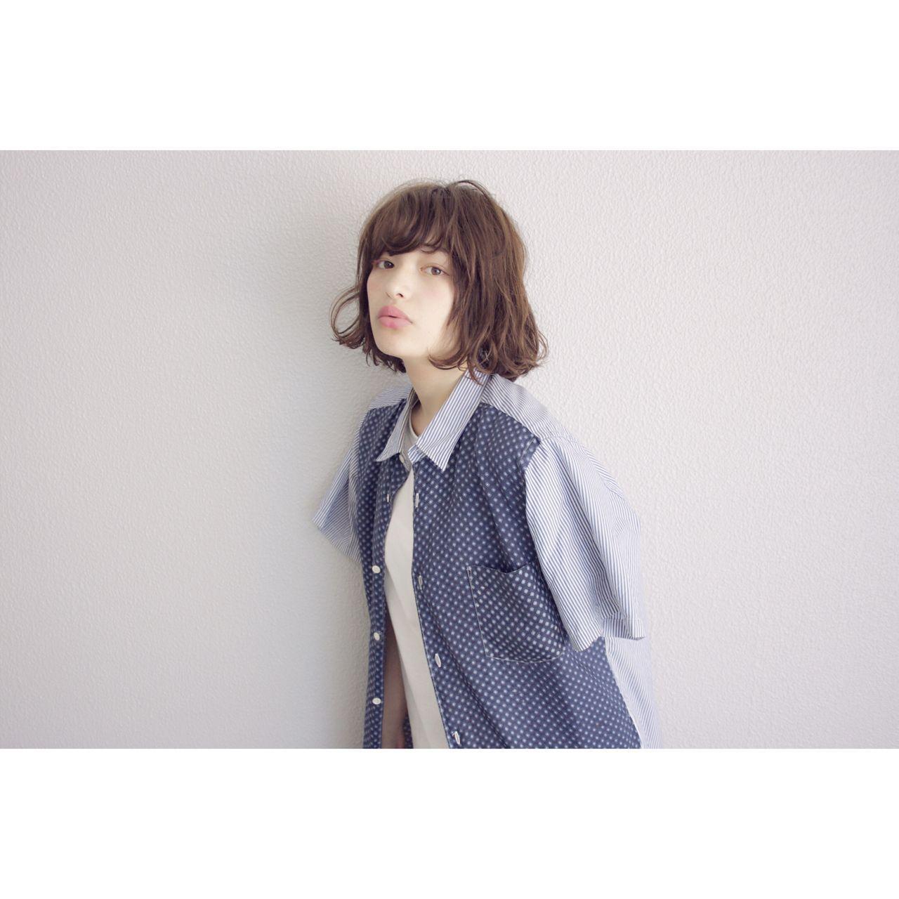 パンク ボブ ウェットヘア ストリートヘアスタイルや髪型の写真・画像